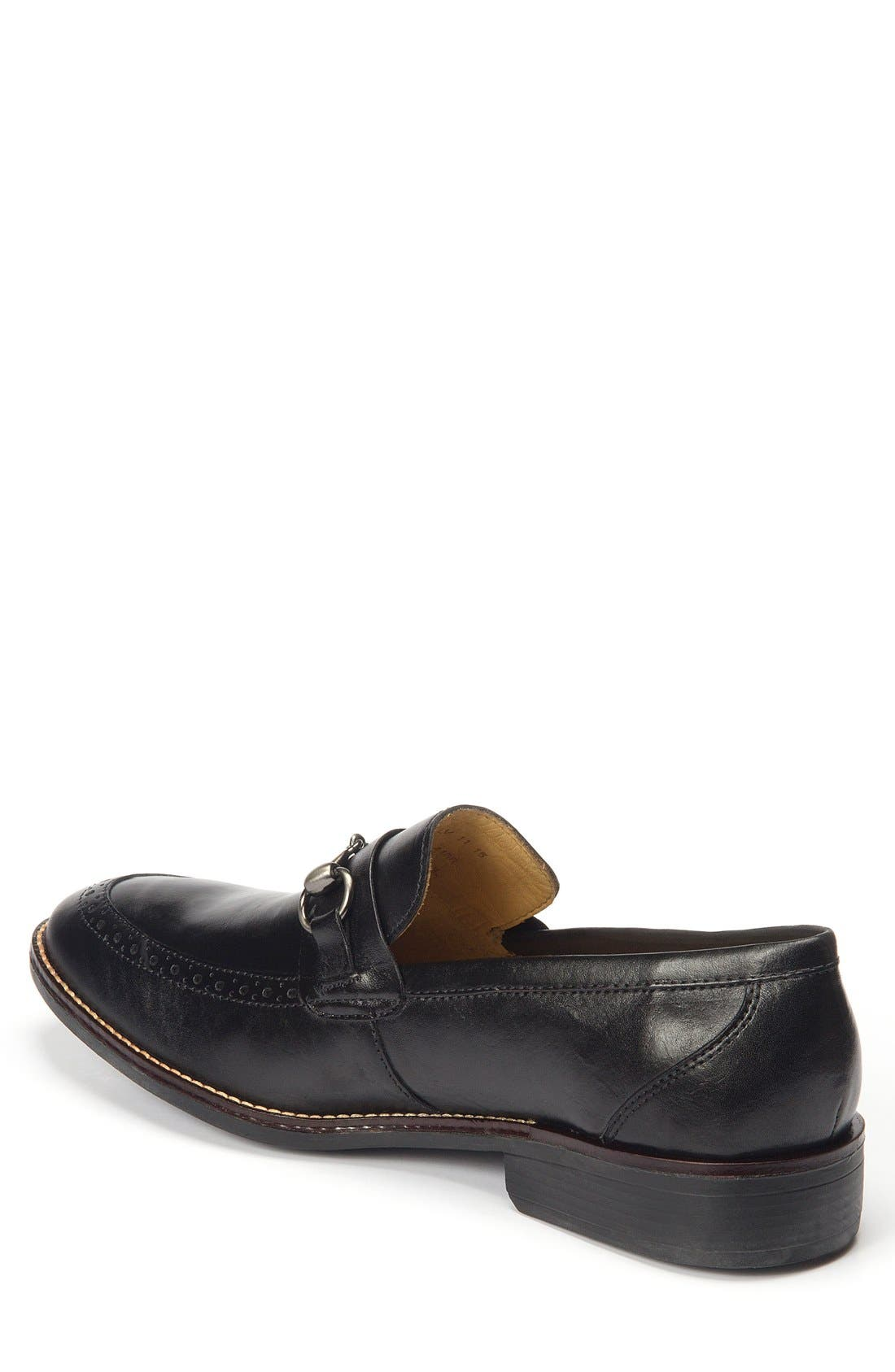 Wesley Bit Loafer,                             Alternate thumbnail 2, color,                             Black Leather
