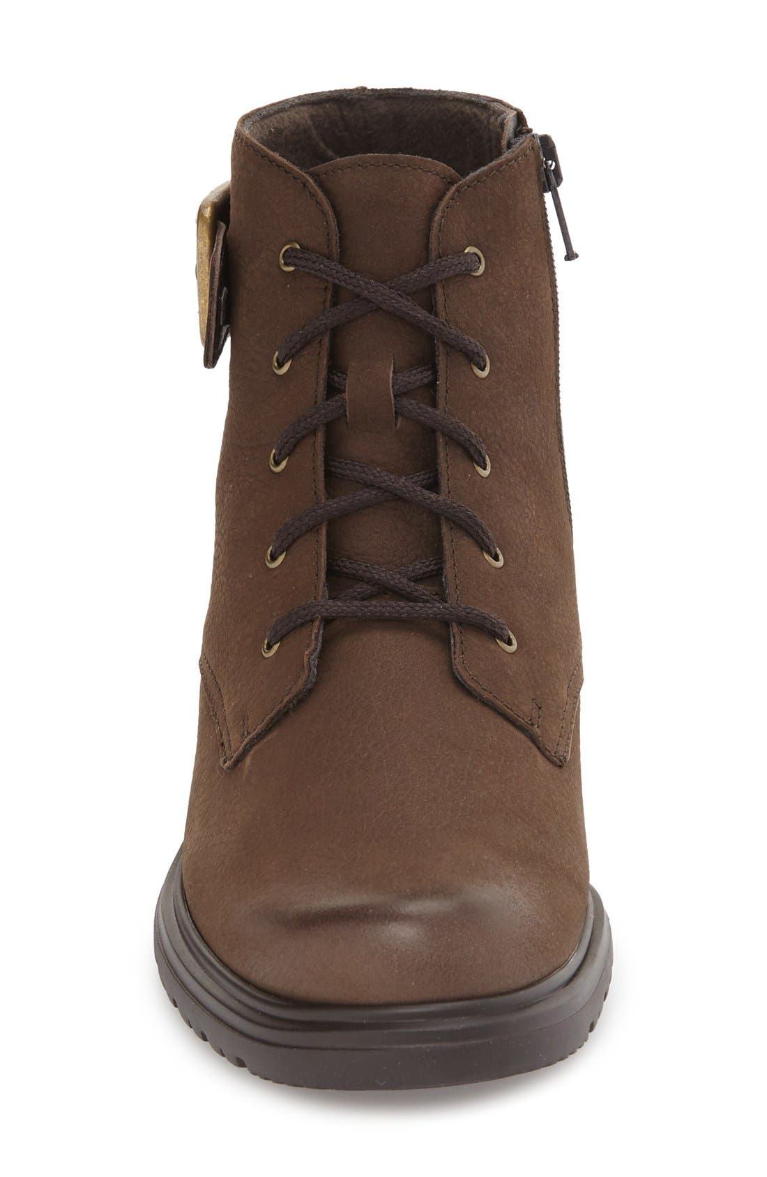 Bradley Water Resistant Boot,                             Alternate thumbnail 3, color,                             Brown Tumbled Nubuck Leather