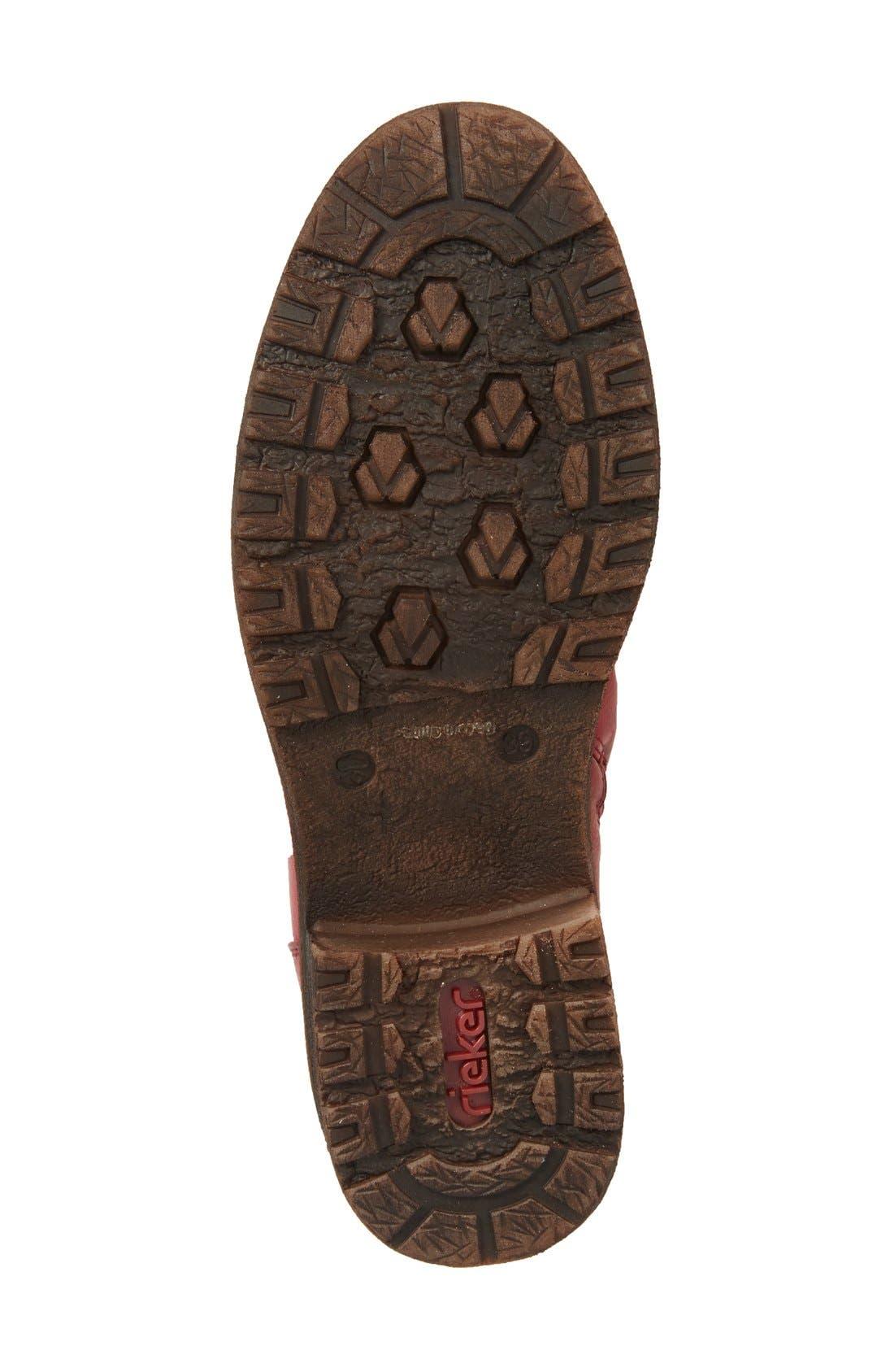 Dominika 73 Water Resistant Boot,                             Alternate thumbnail 4, color,                             Burgundy/ Black
