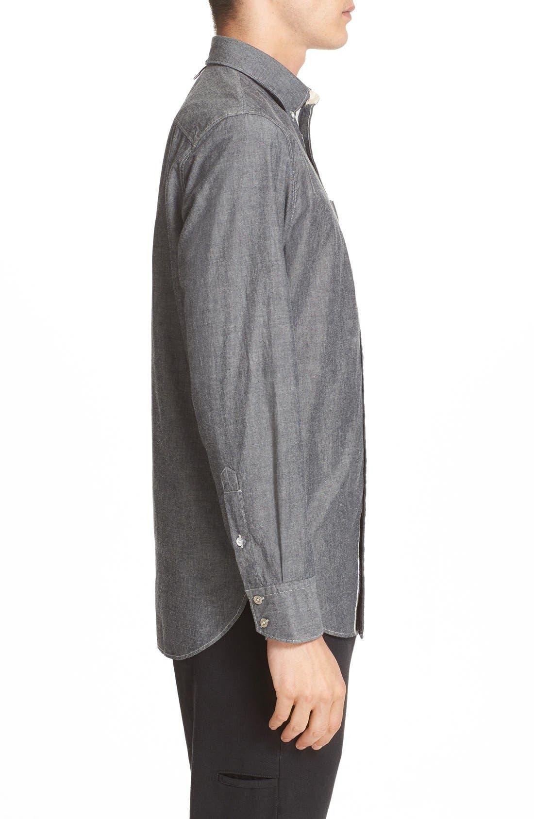 Alternate Image 3  - rag & bone Trim Fit Chambray Shirt