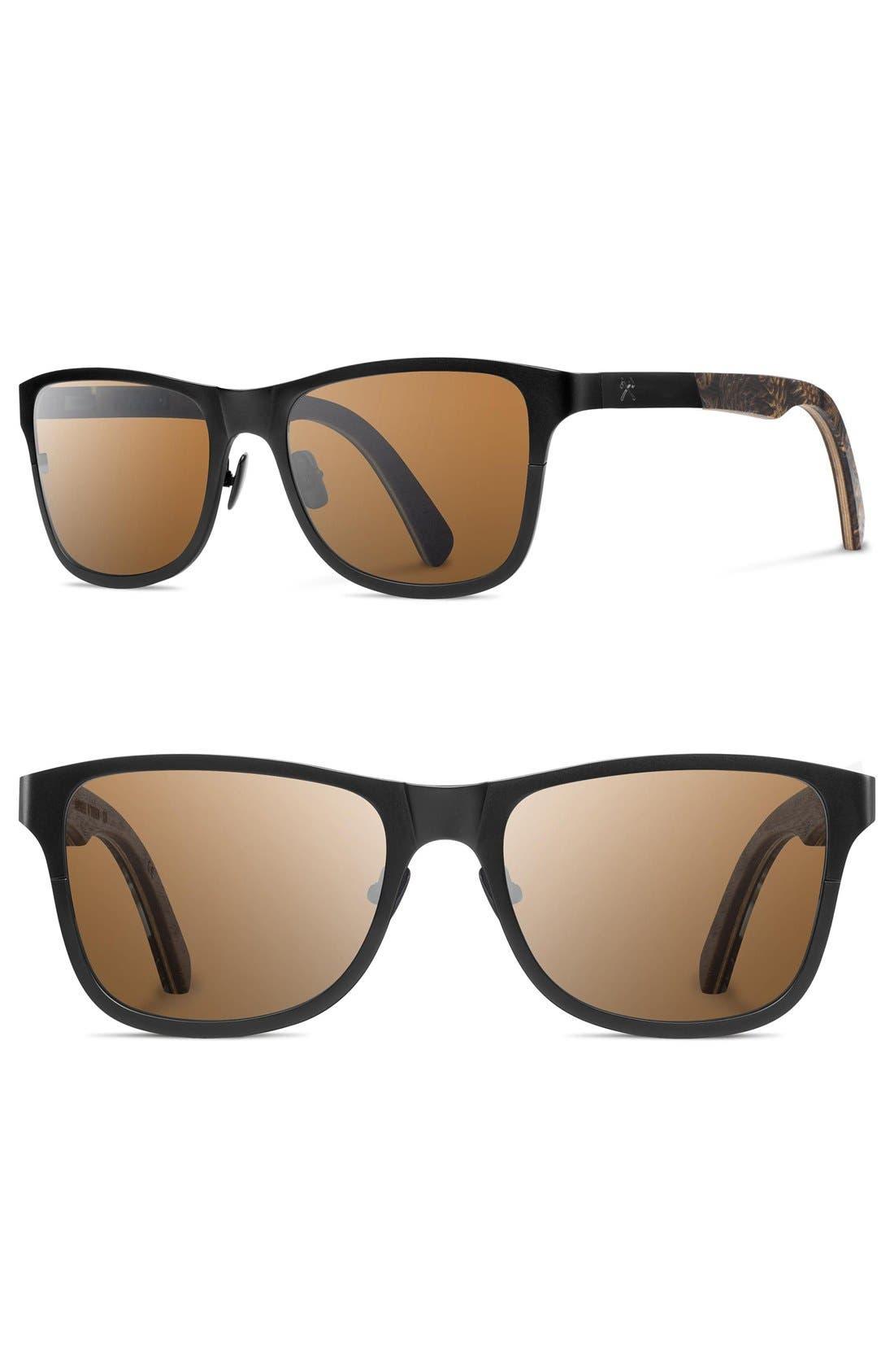 Canby 54mm Polarized Pine Cone & Titanium Sunglasses,                         Main,                         color, Black/ Pinecone/ Brown