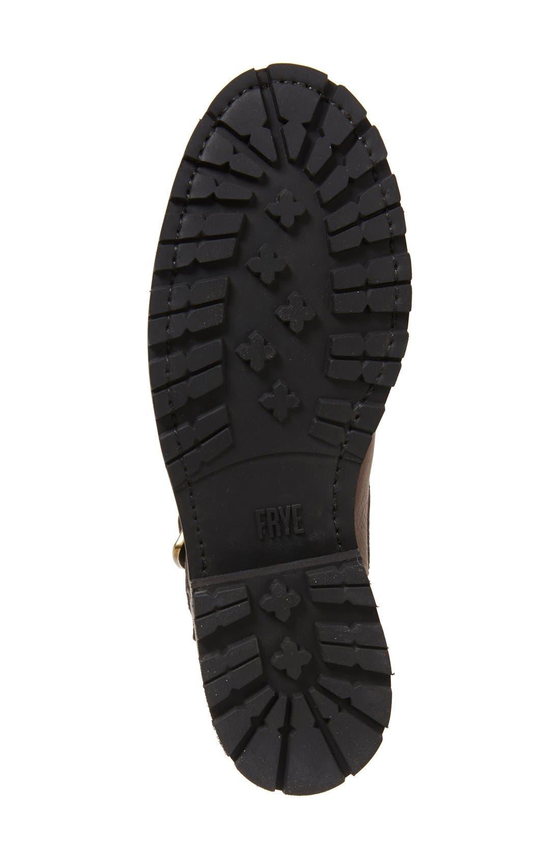Alternate Image 4  - Frye Natalie Buckle Strap Engineer Genuine Shearling Lined Boot (Women)