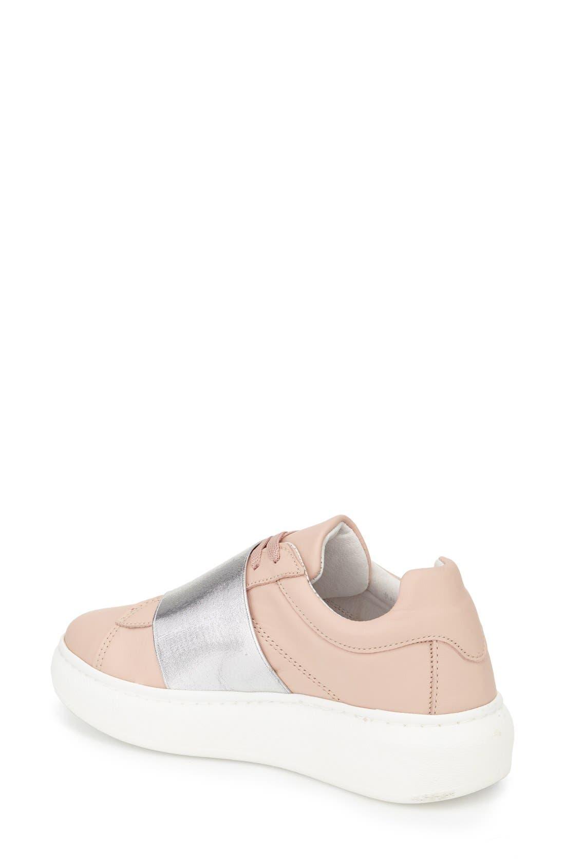 Turin Metallic Strap Platform Sneaker,                             Alternate thumbnail 2, color,                             Pink Multi
