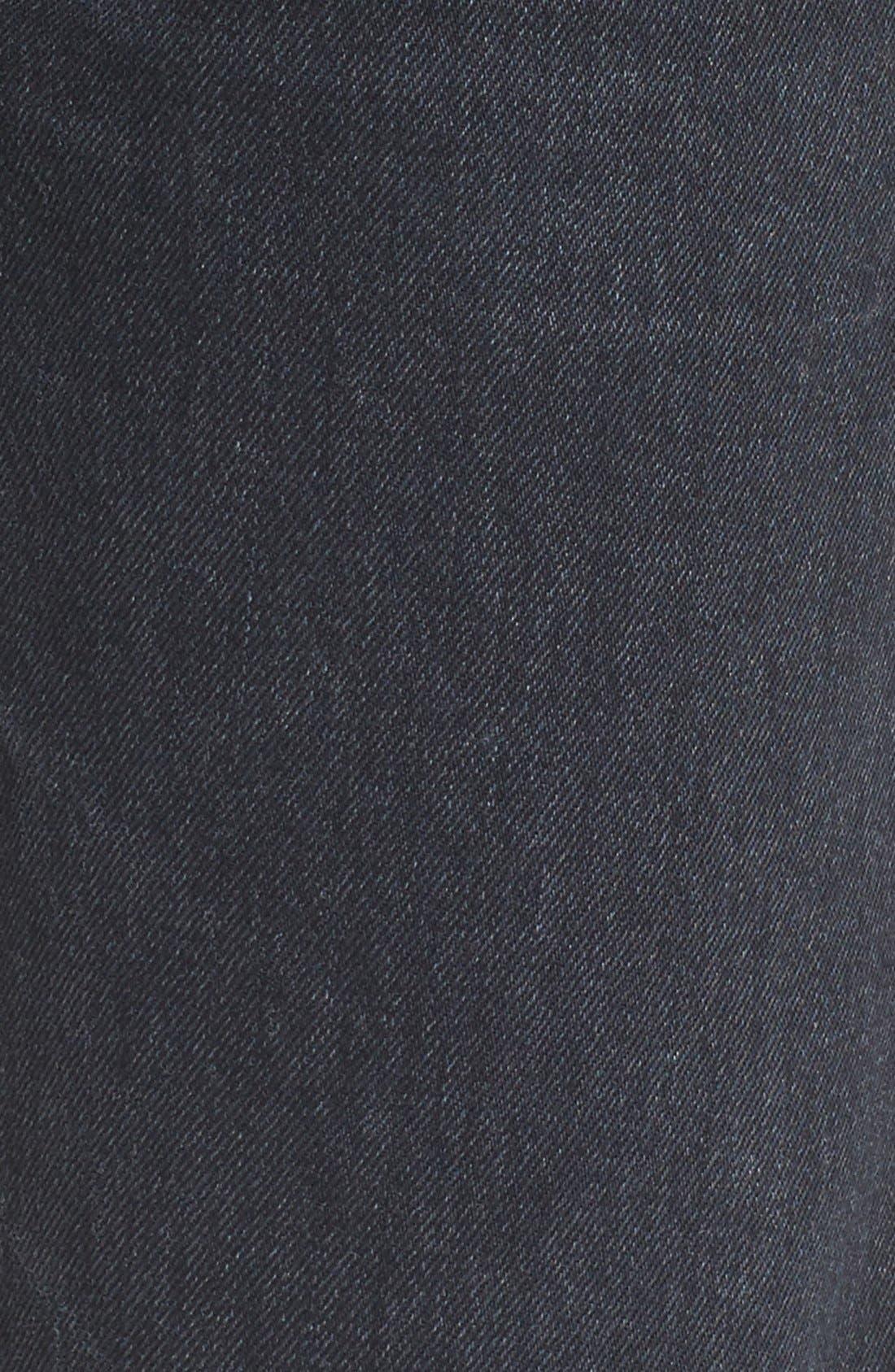 Emerson Slim Boyfriend Jeans,                             Alternate thumbnail 5, color,                             Black Hawk