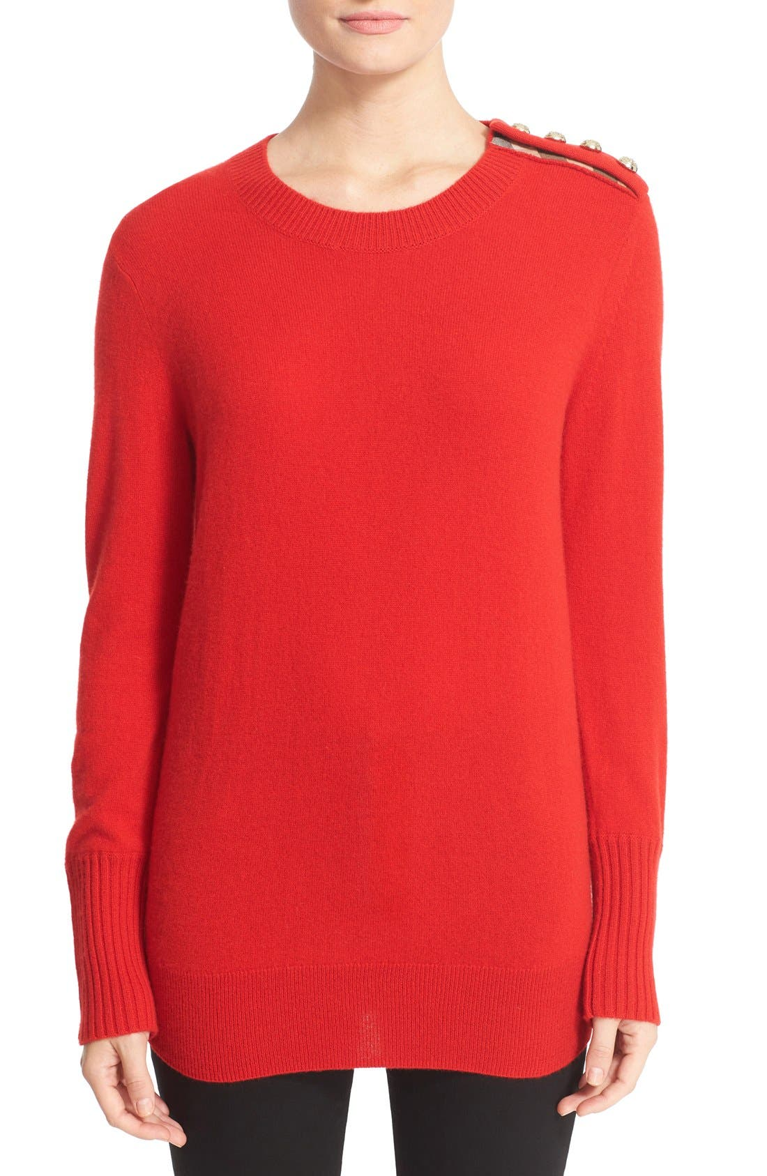 Main Image - Burberry Meesebrook Cashmere Sweater