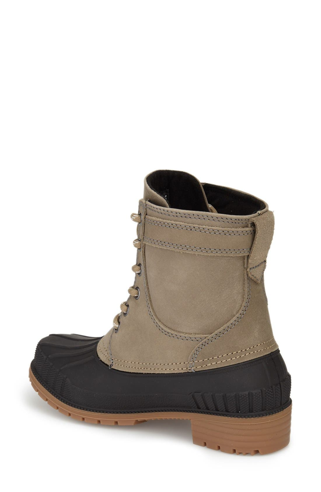 Evelyn Waterproof Boot,                             Alternate thumbnail 2, color,                             Taupe Leather
