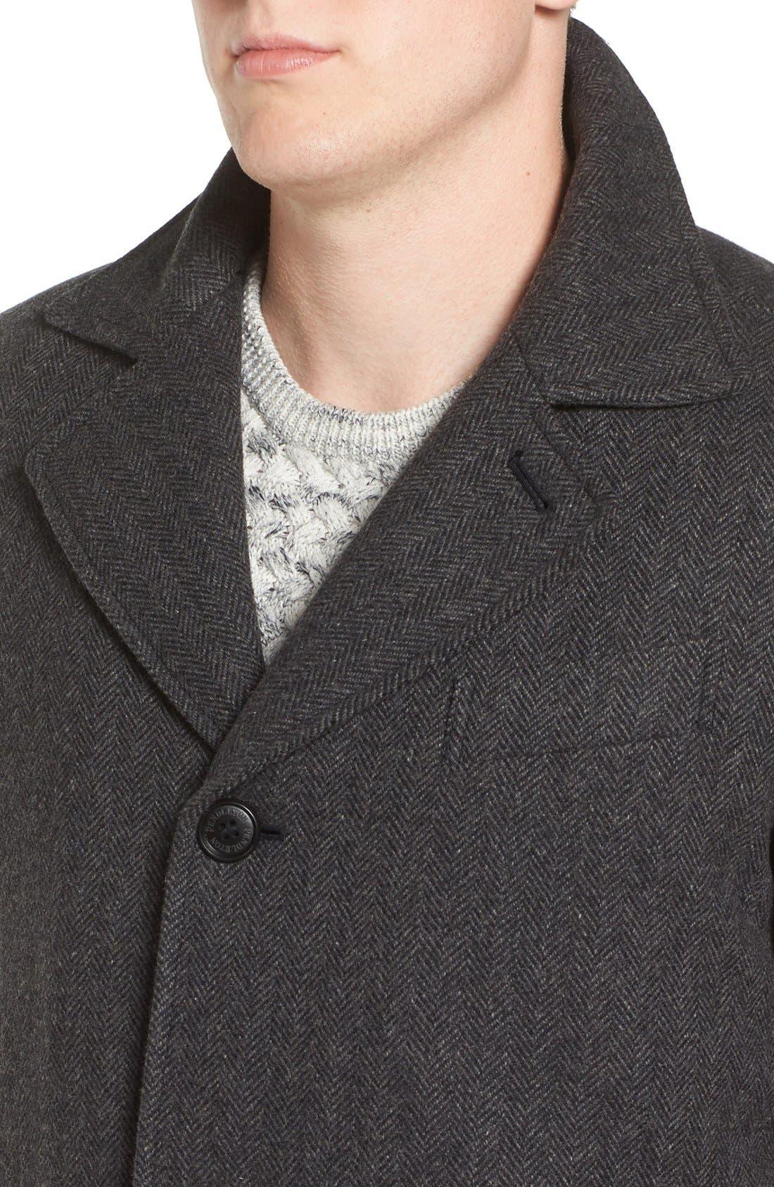 Alternate Image 4  - Pendleton Manhattan Herringbone Wool Blend Reefer Coat