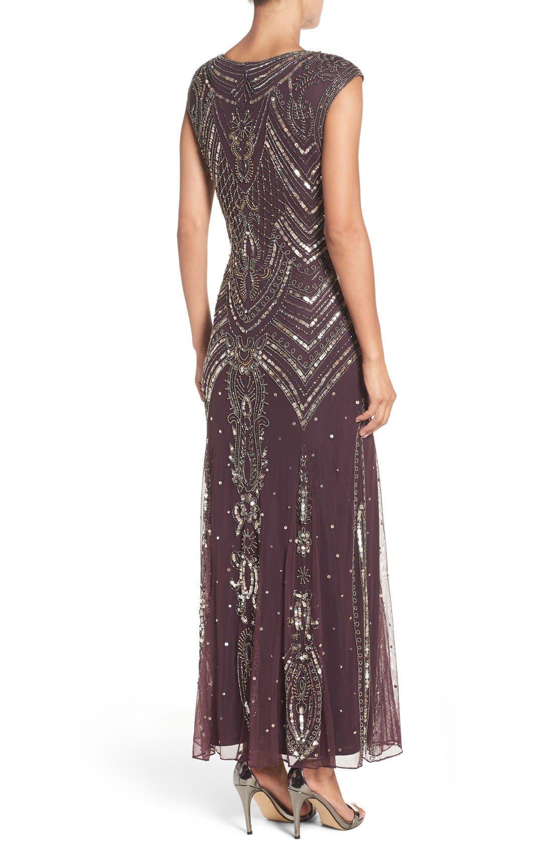 Alternate Image 2  - Pisarro Nights Embellished Gown (Regular & Petite)