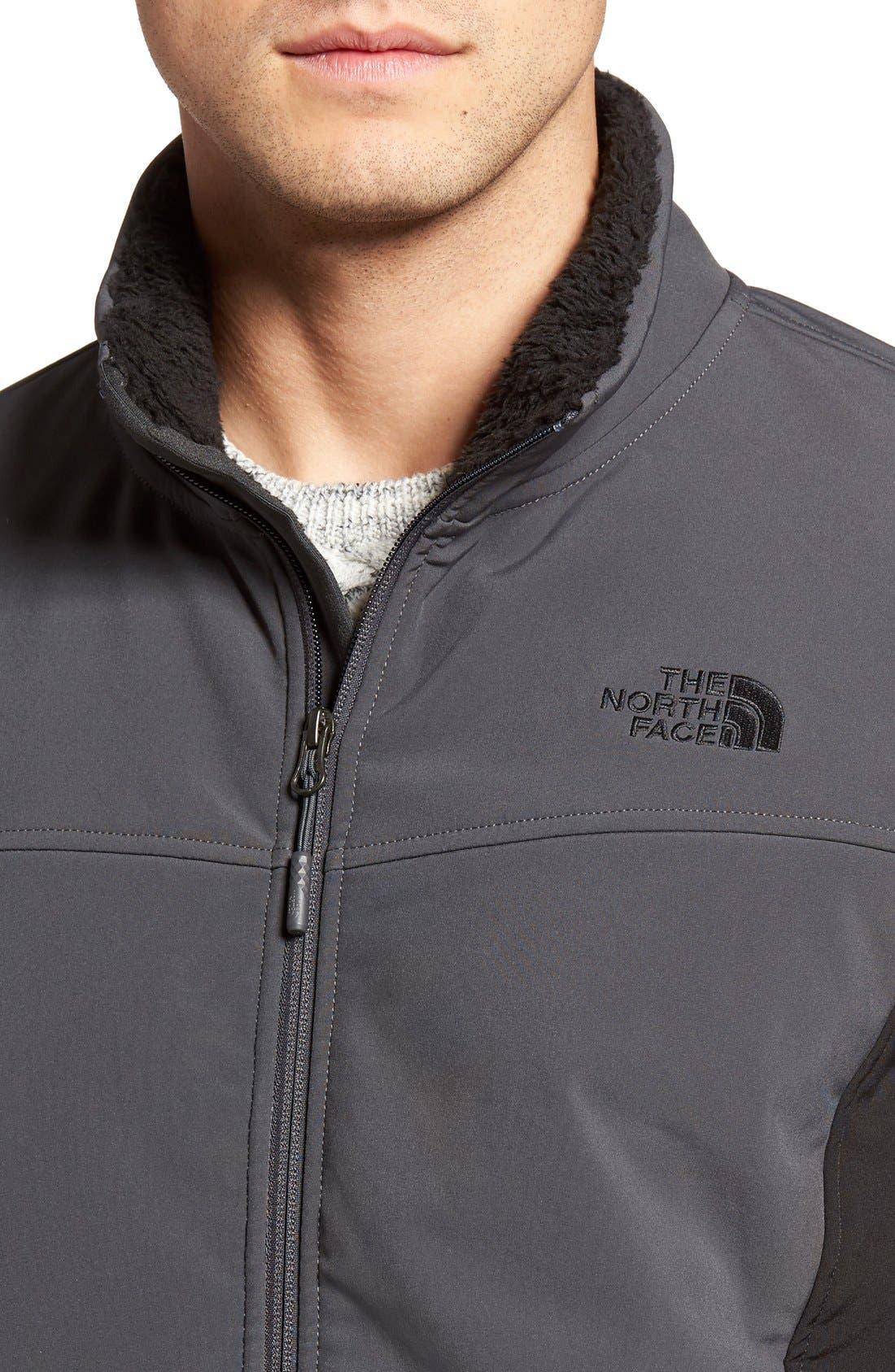'Apex Chromium' Waterproof Thermal Jacket,                             Alternate thumbnail 4, color,                             Asphalt Grey/ Tnf Black