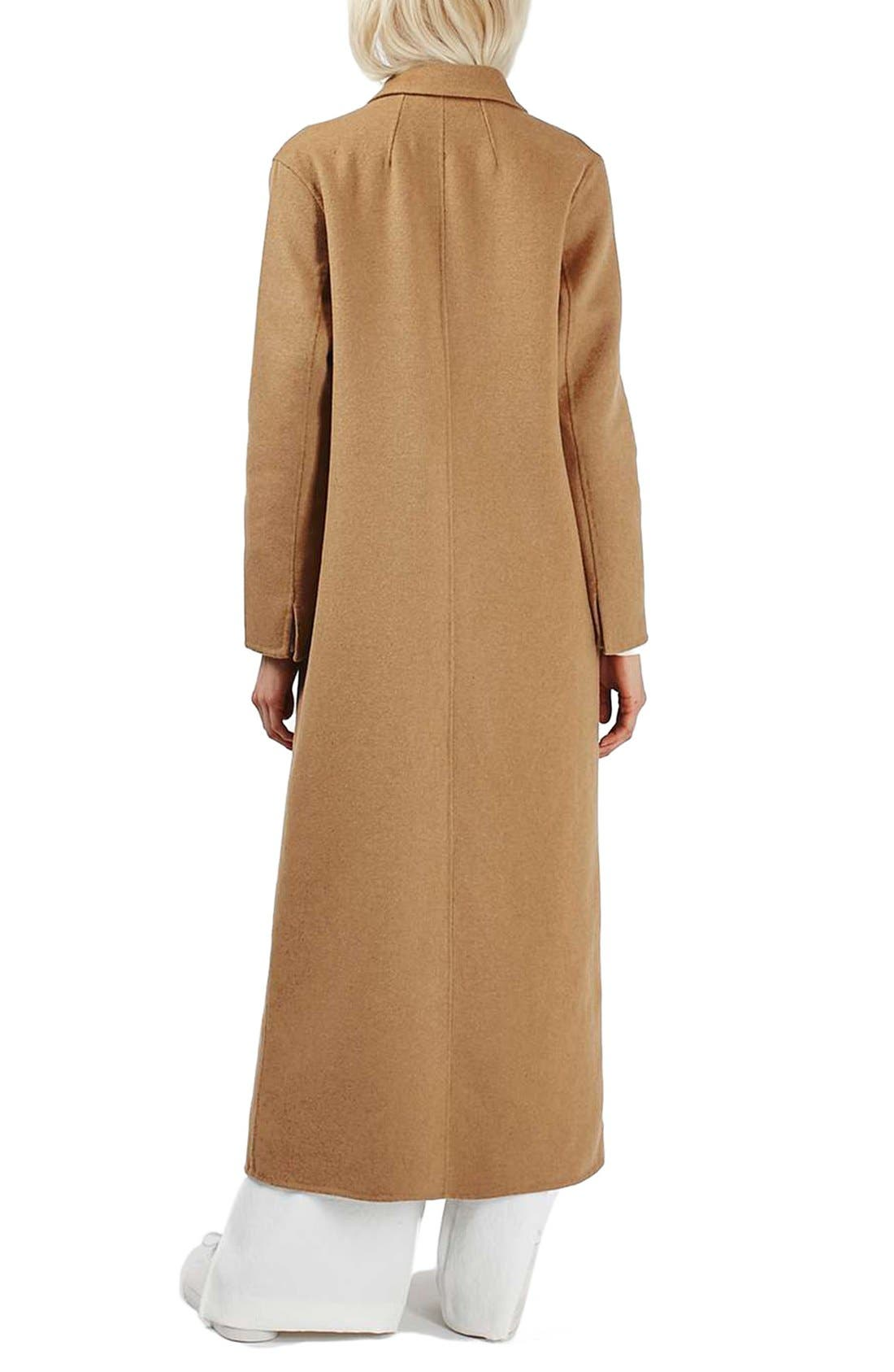 Alternate Image 2  - Topshop Butted Seam Duster Coat