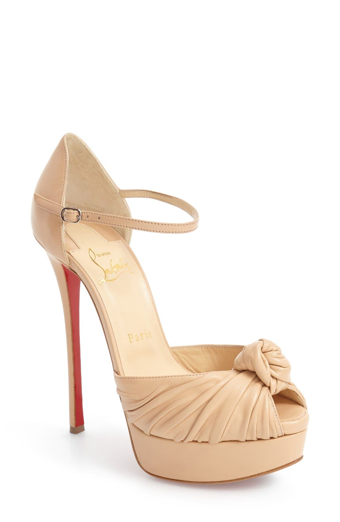 Marchavekel Knot Sandal,                             Main thumbnail 1, color,                             Nude Leather