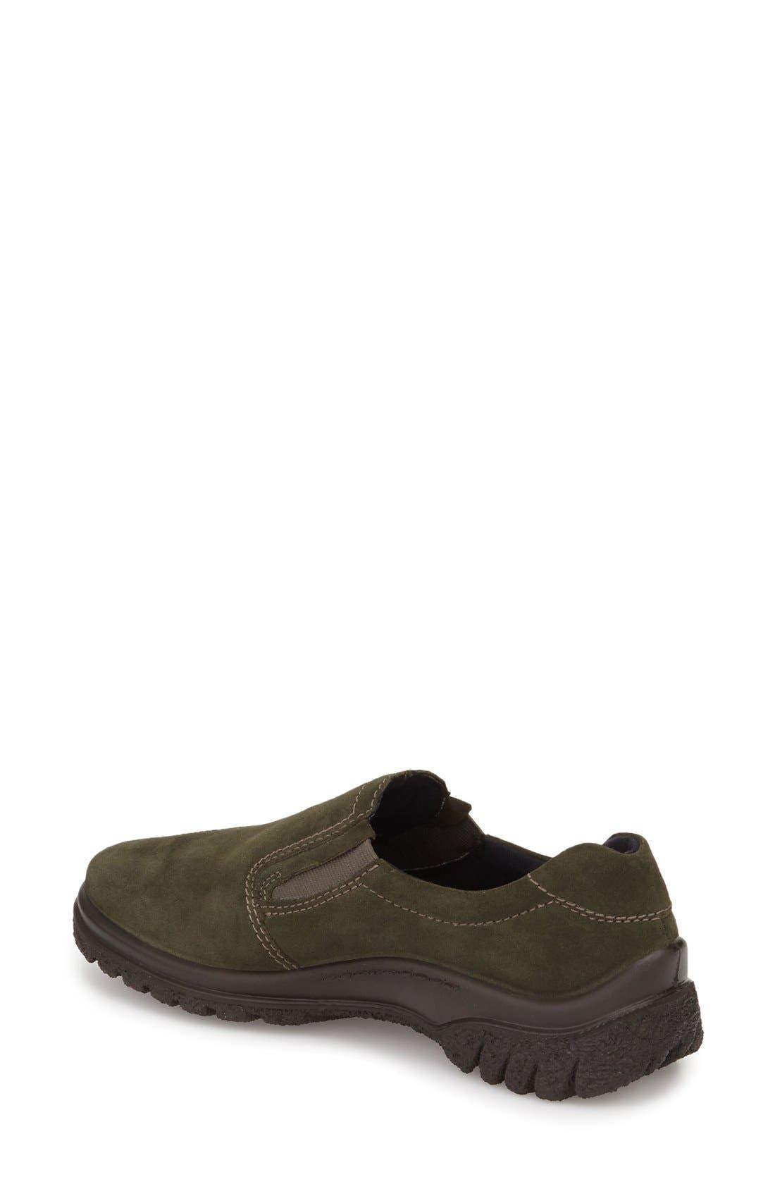 Parson Waterproof Gore-Tex<sup>®</sup> Slip-On Sneaker,                             Alternate thumbnail 2, color,                             Olive Suede