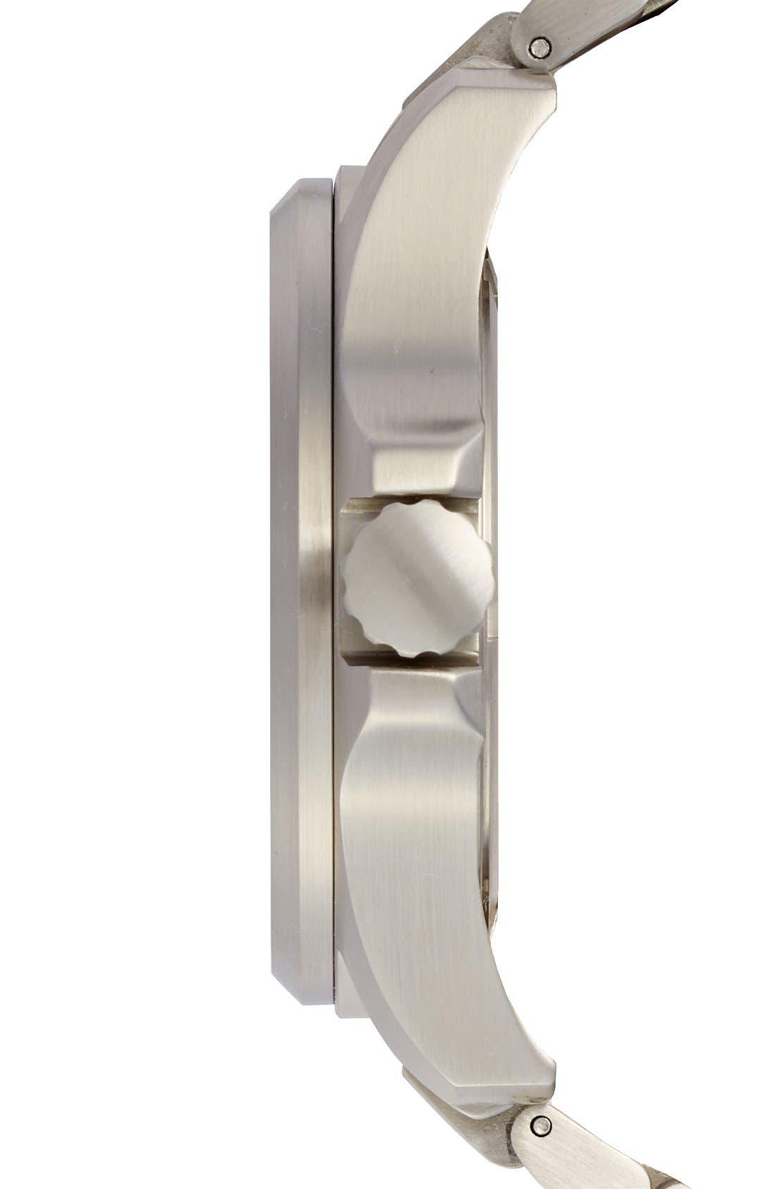 Atacama Field Bracelet Watch, 45mm,                             Alternate thumbnail 3, color,                             Dark Blue/ Tan