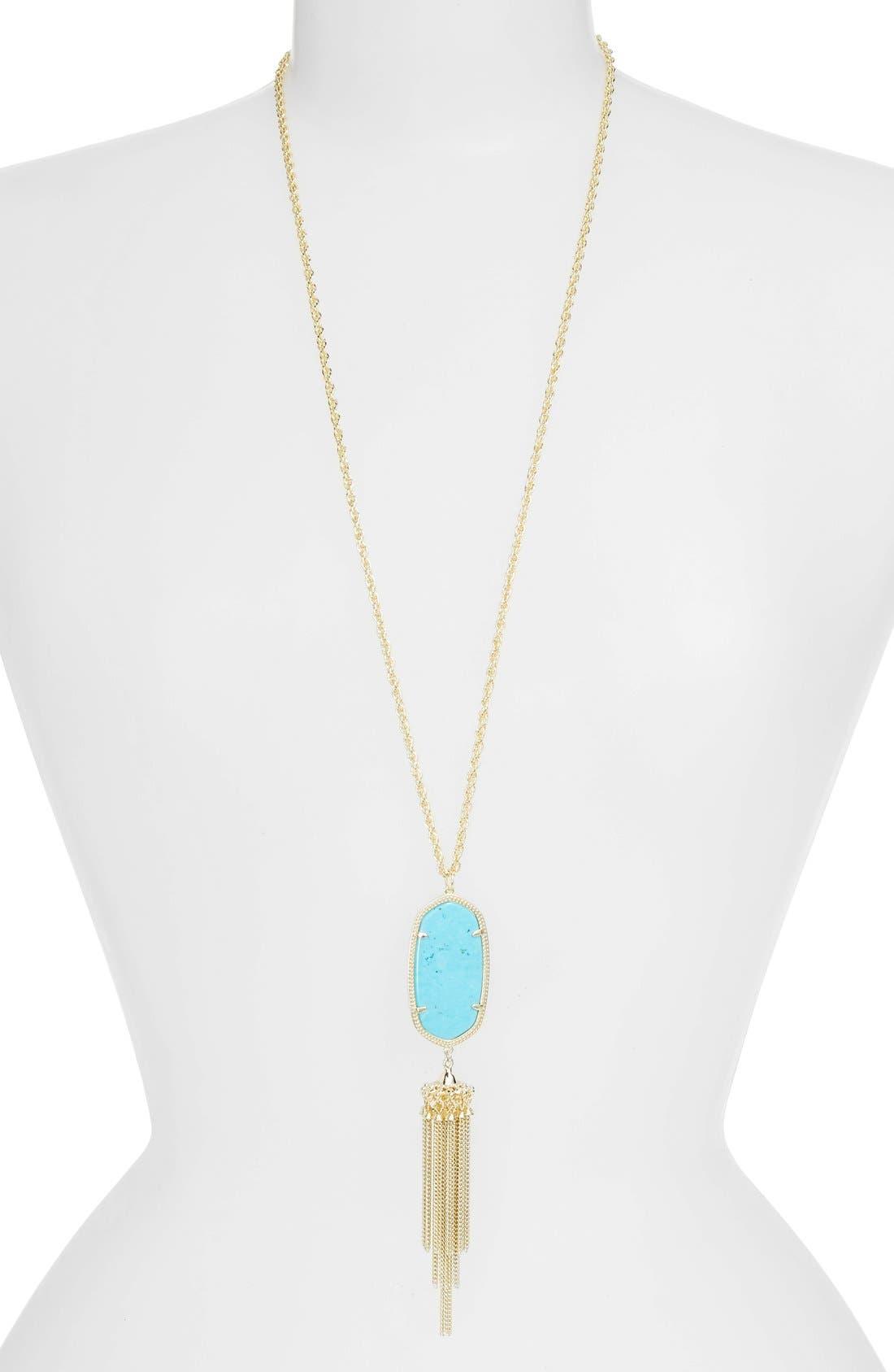 Alternate Image 1 Selected - Kendra Scott Rayne Stone Tassel Pendant Necklace