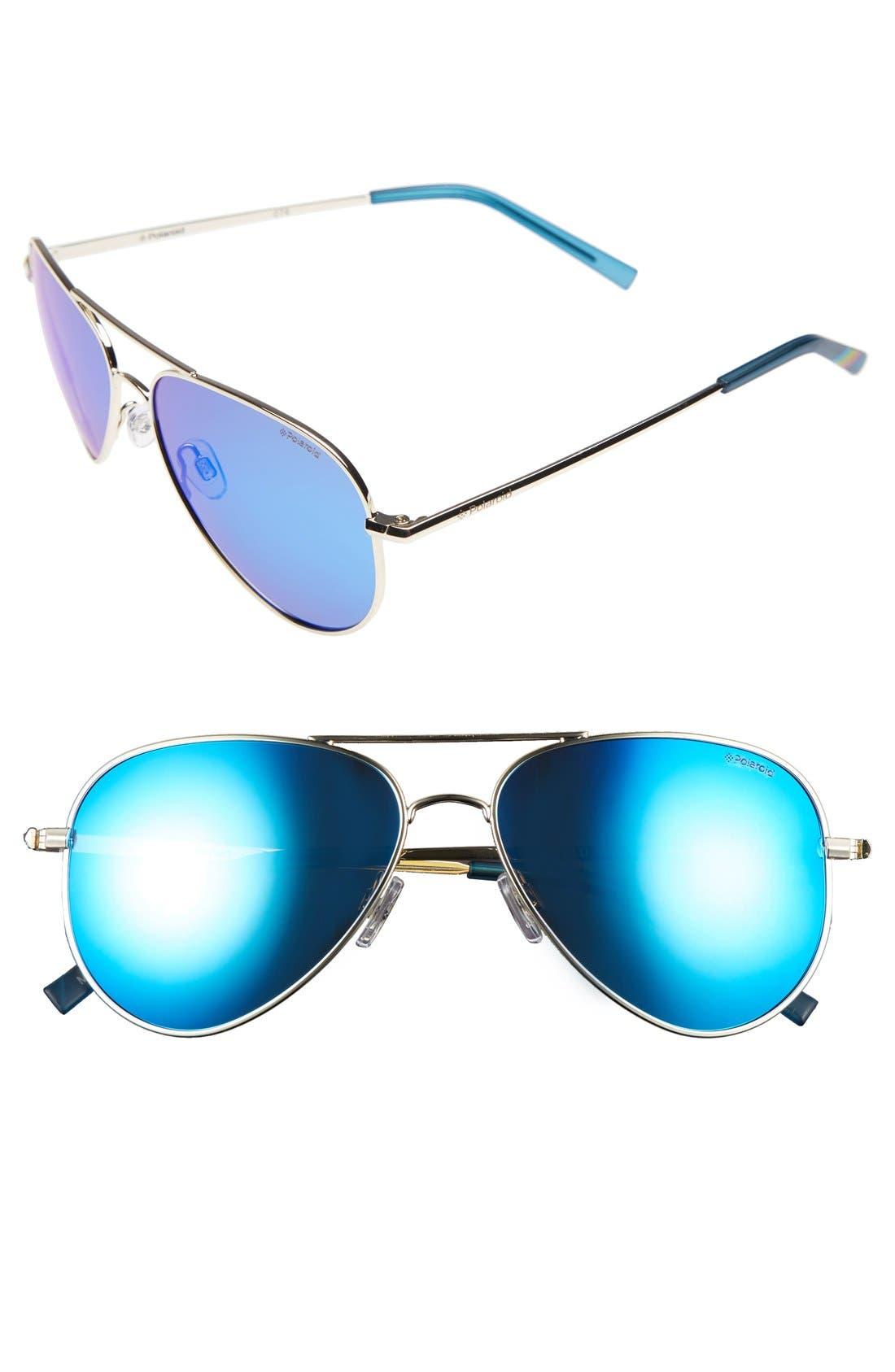 Main Image - Polaroid 6012/N 56mm Polarized Aviator Sunglasses