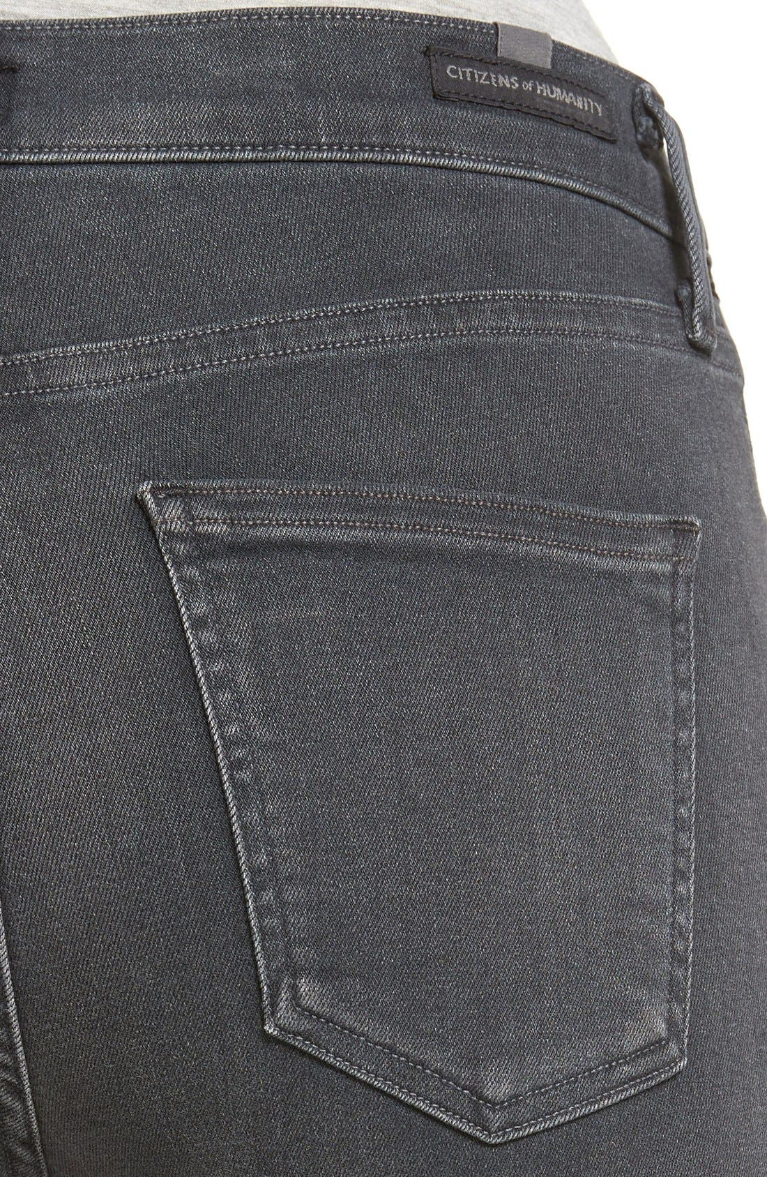 Alternate Image 4  - Citizens of Humanity Rocket High Waist Crop Skinny Jeans (Chateau)
