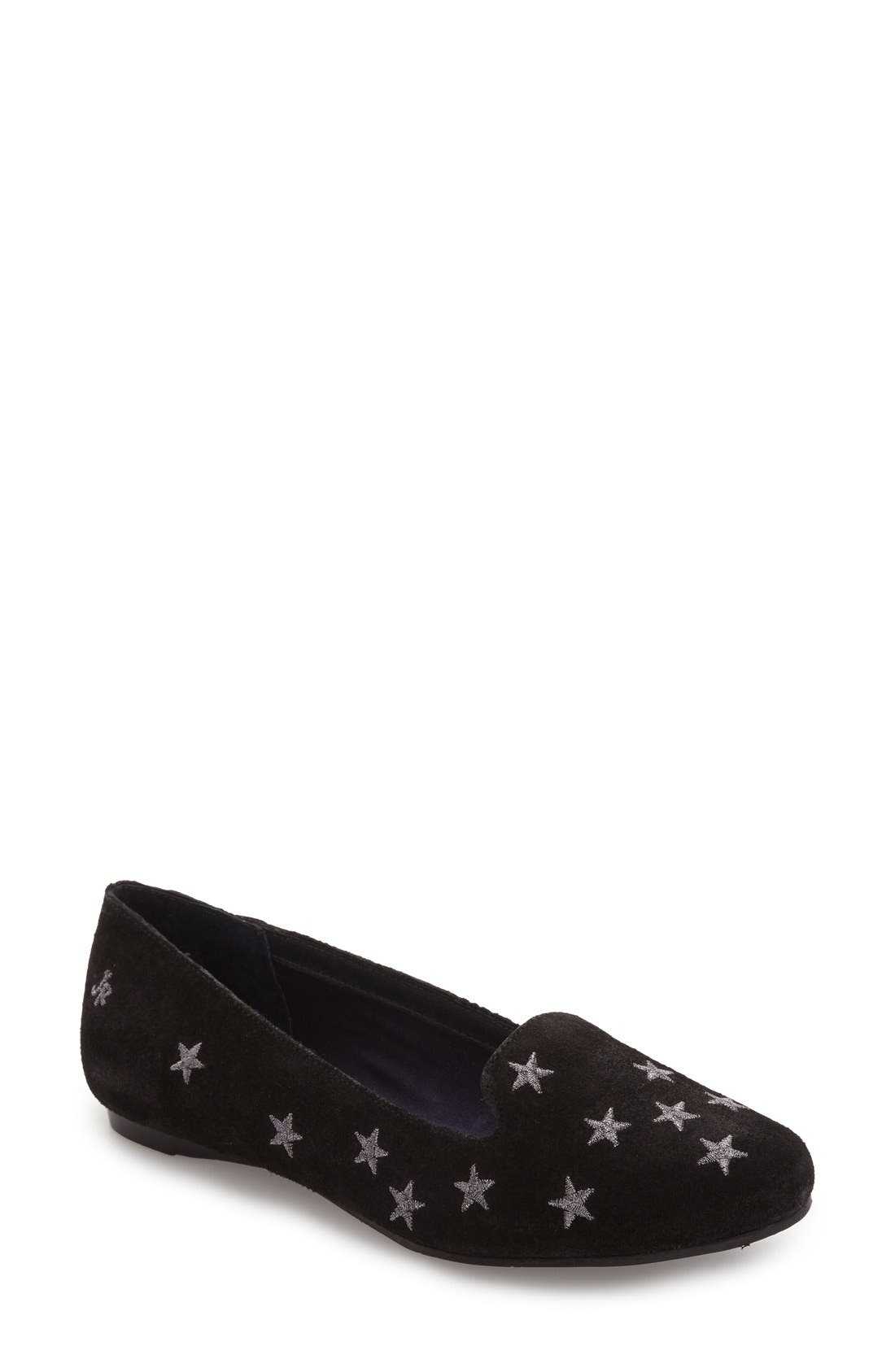 Starstuck Loafer,                         Main,                         color, Black Suede