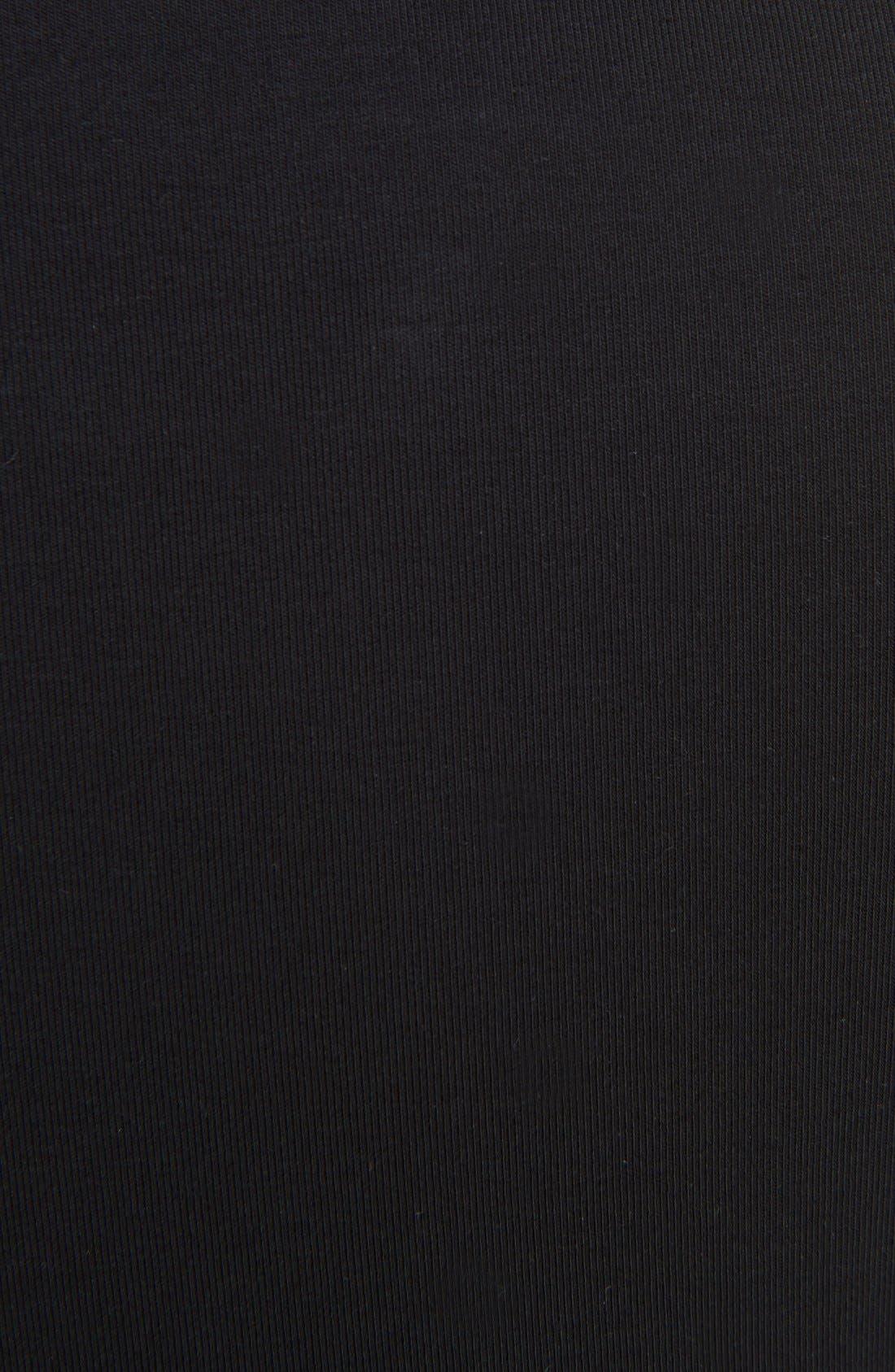 Iza Rib Tee,                             Alternate thumbnail 3, color,                             Black