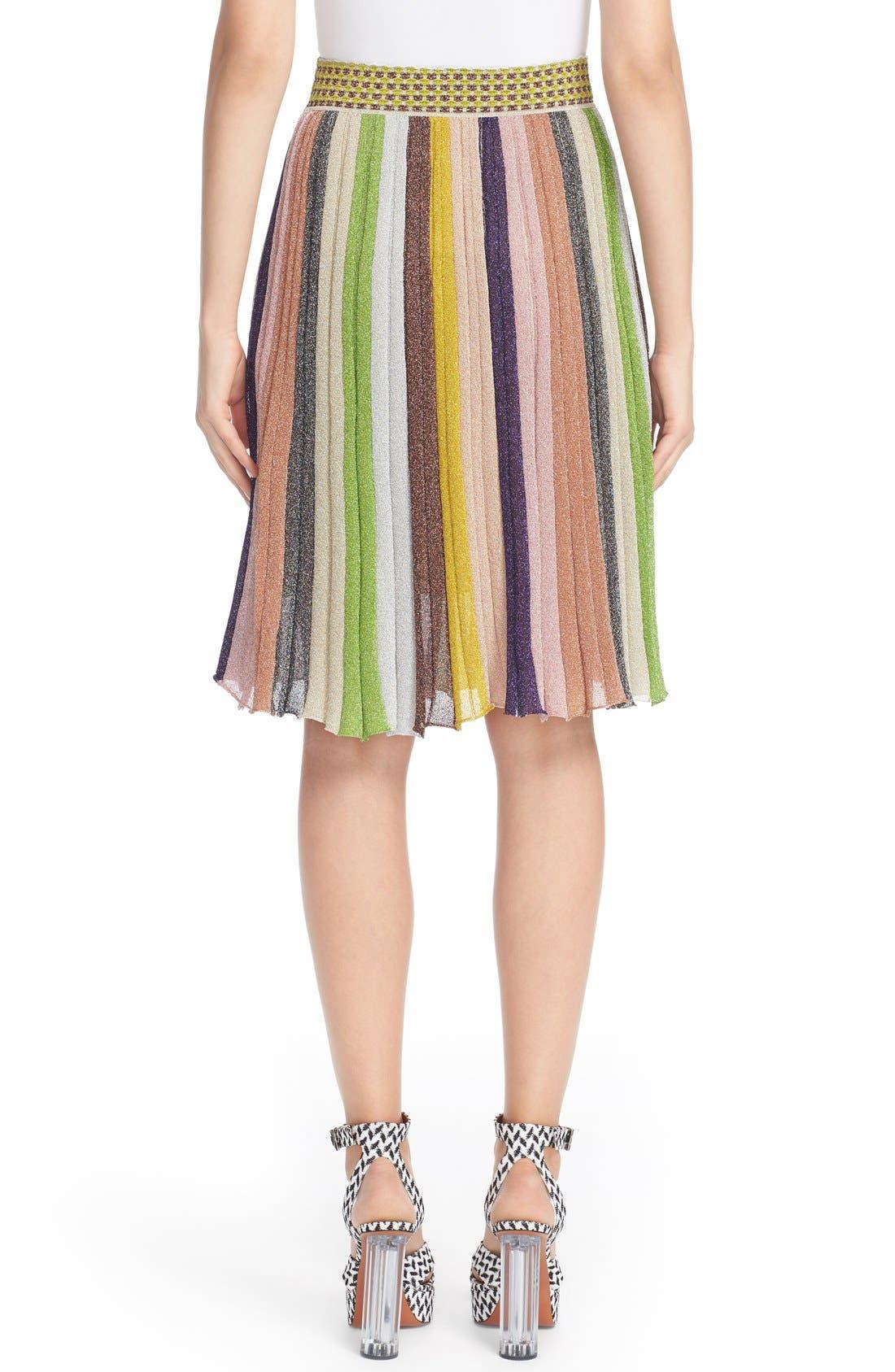 Alternate Image 2  - Missioni Metallic Stripe Skirt