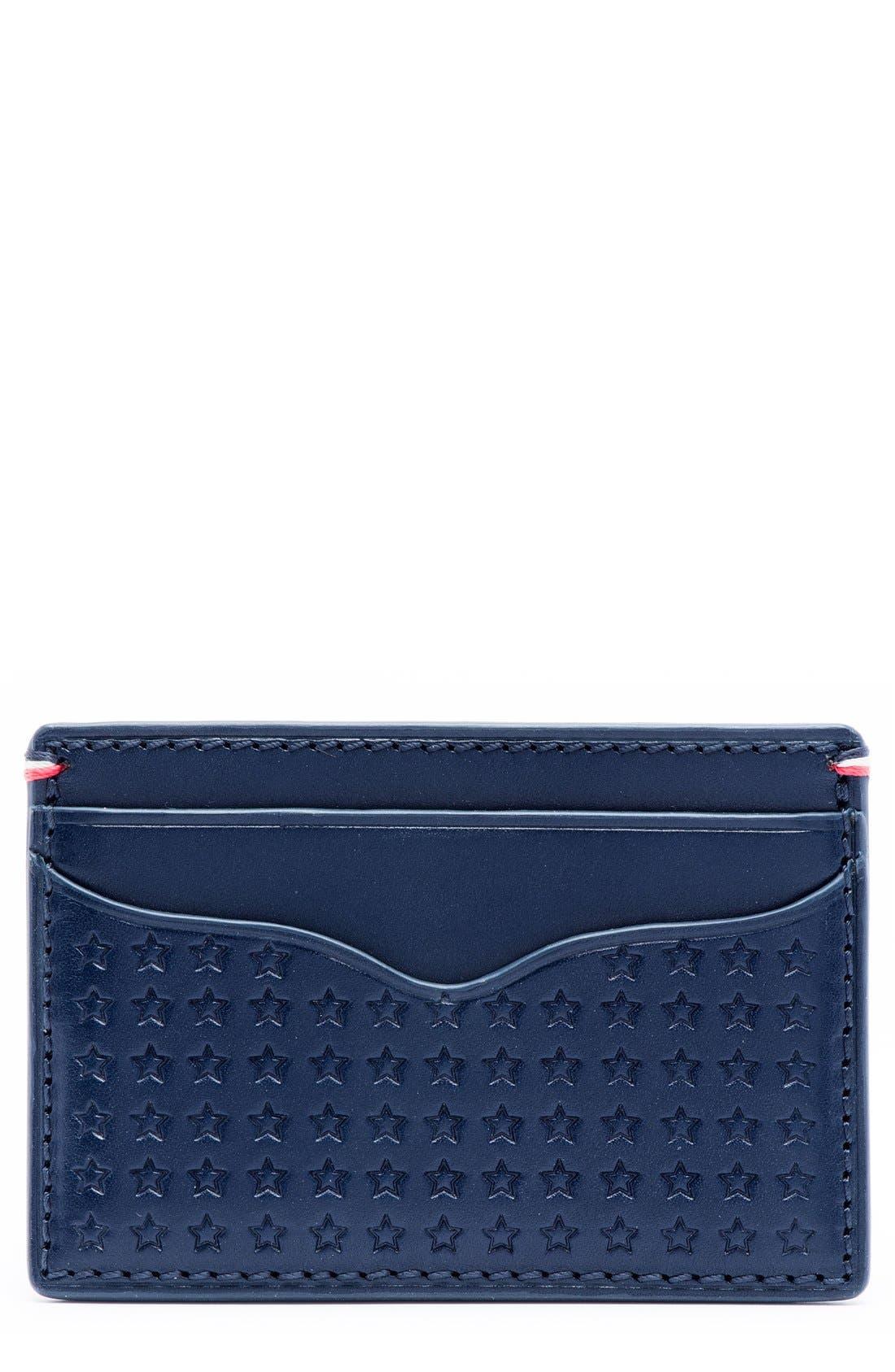 Alternate Image 1 Selected - Jack Mason Star Leather Card Case