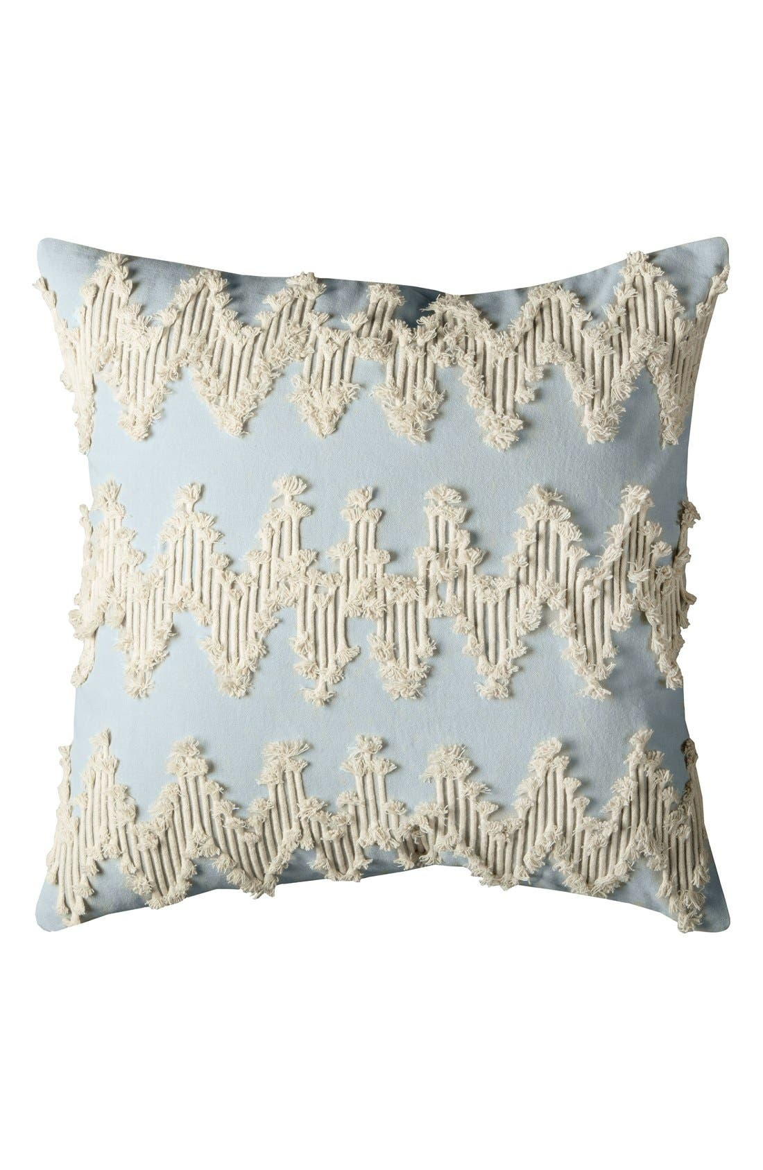 Embroidered Chevron Pillow,                         Main,                         color, Blue/ Natural