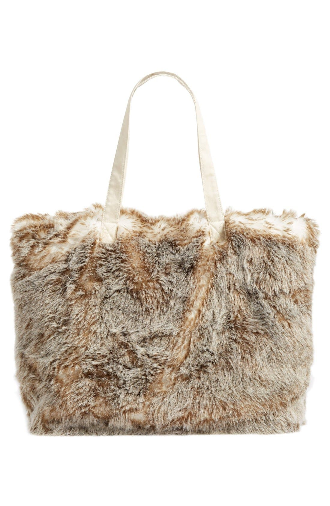Alternate Image 3  - Nordstrom at Home Cuddle Up Faux Fur Tote