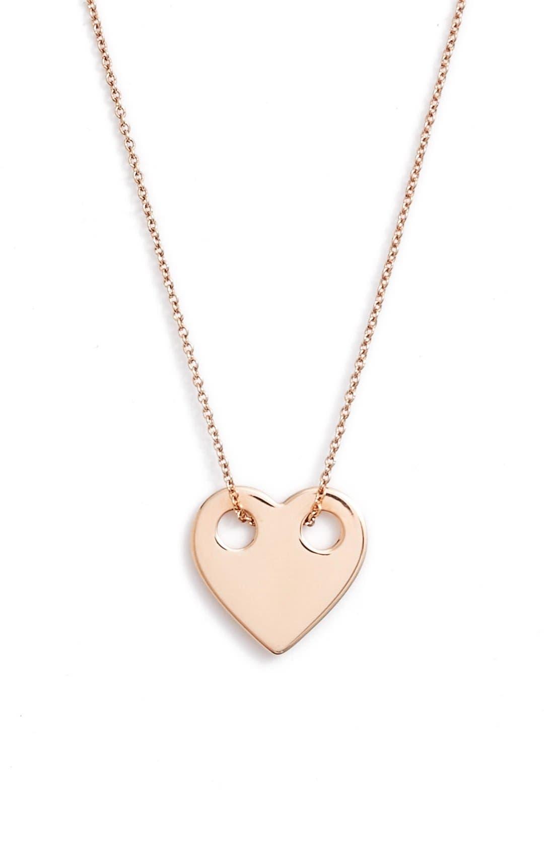 Alternate Image 1 Selected - ginette ny Mini Heart Pendant Necklace