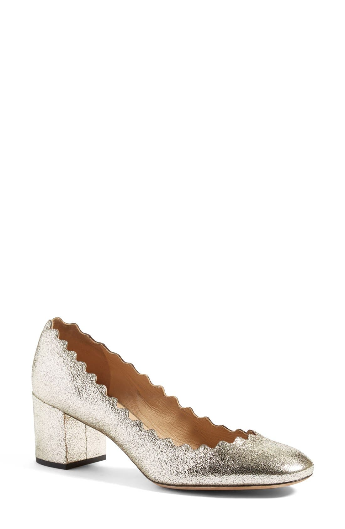 Chloé 'Lauren' Scalloped Pump (Women)