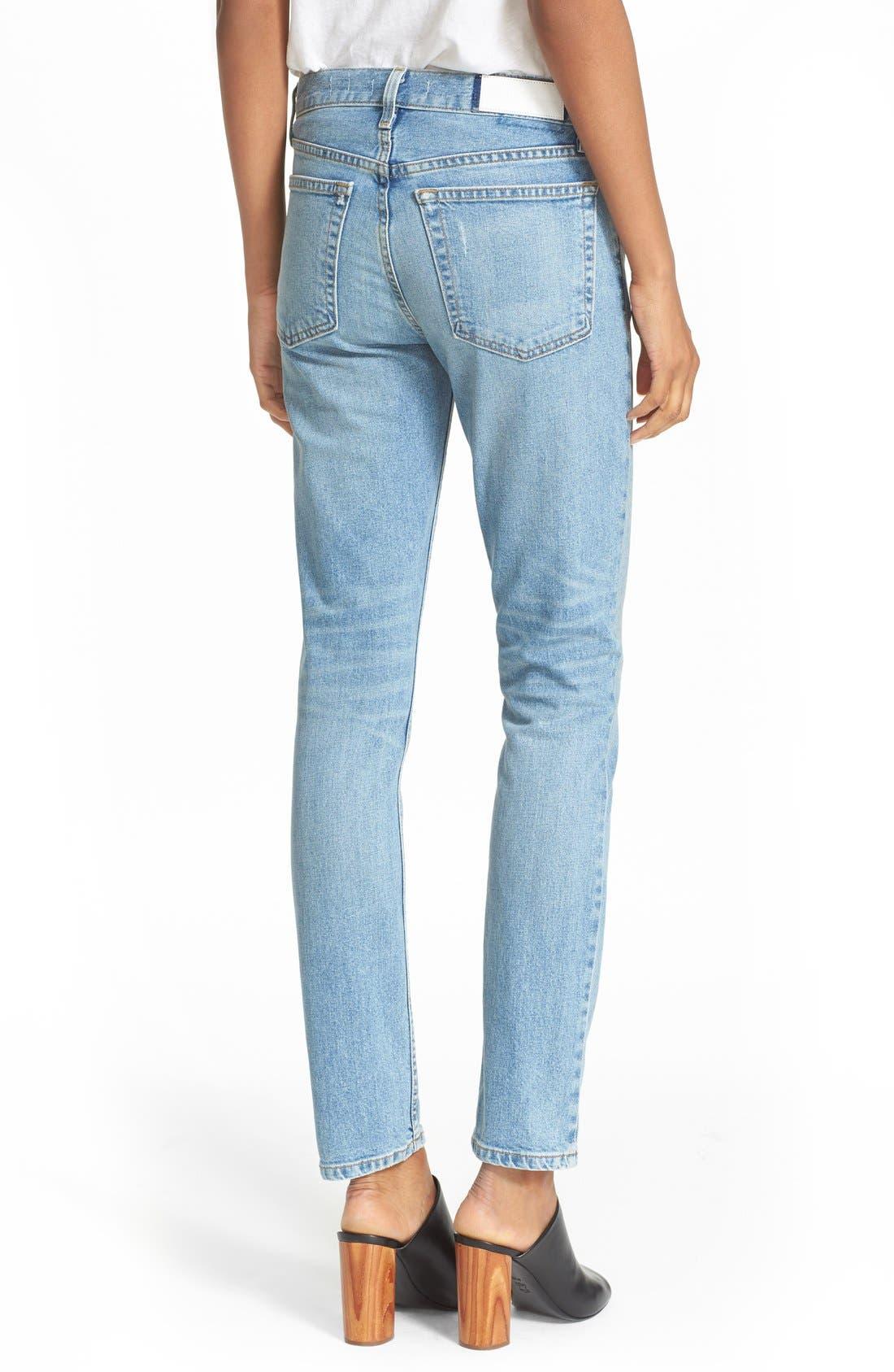 Originals High Waist Straight Skinny Stretch Jeans,                             Alternate thumbnail 2, color,                             Light
