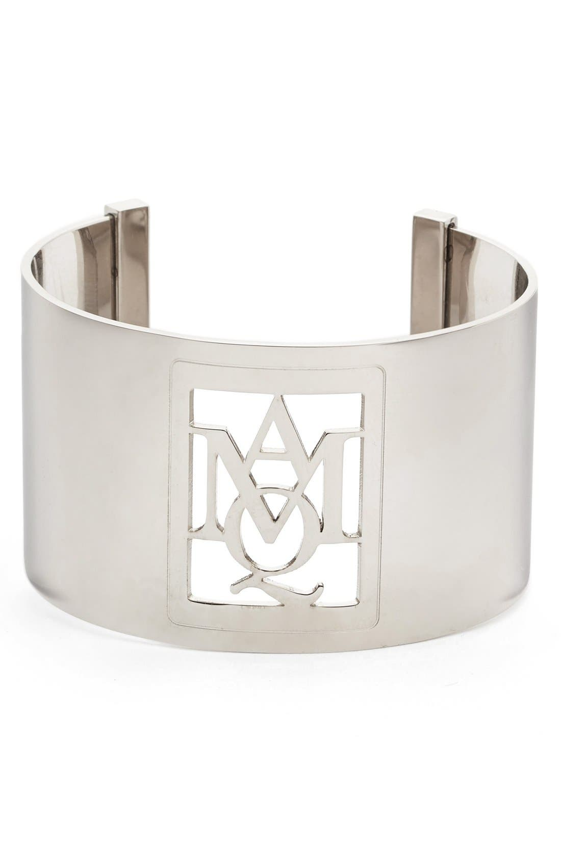 Alternate Image 1 Selected - Alexander McQueen Silver Insignia Cuff