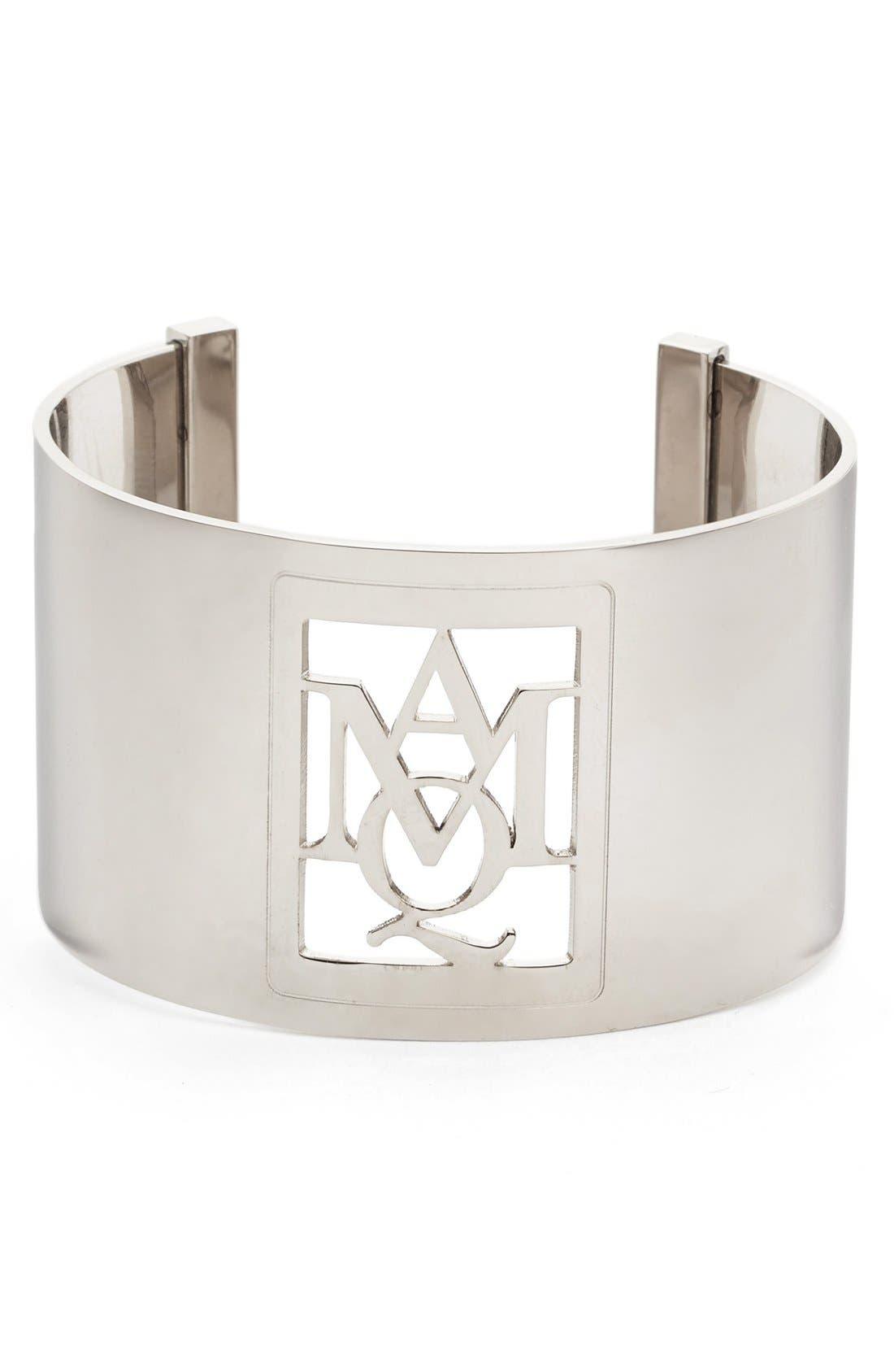 Alexander McQueen Silver Insignia Cuff