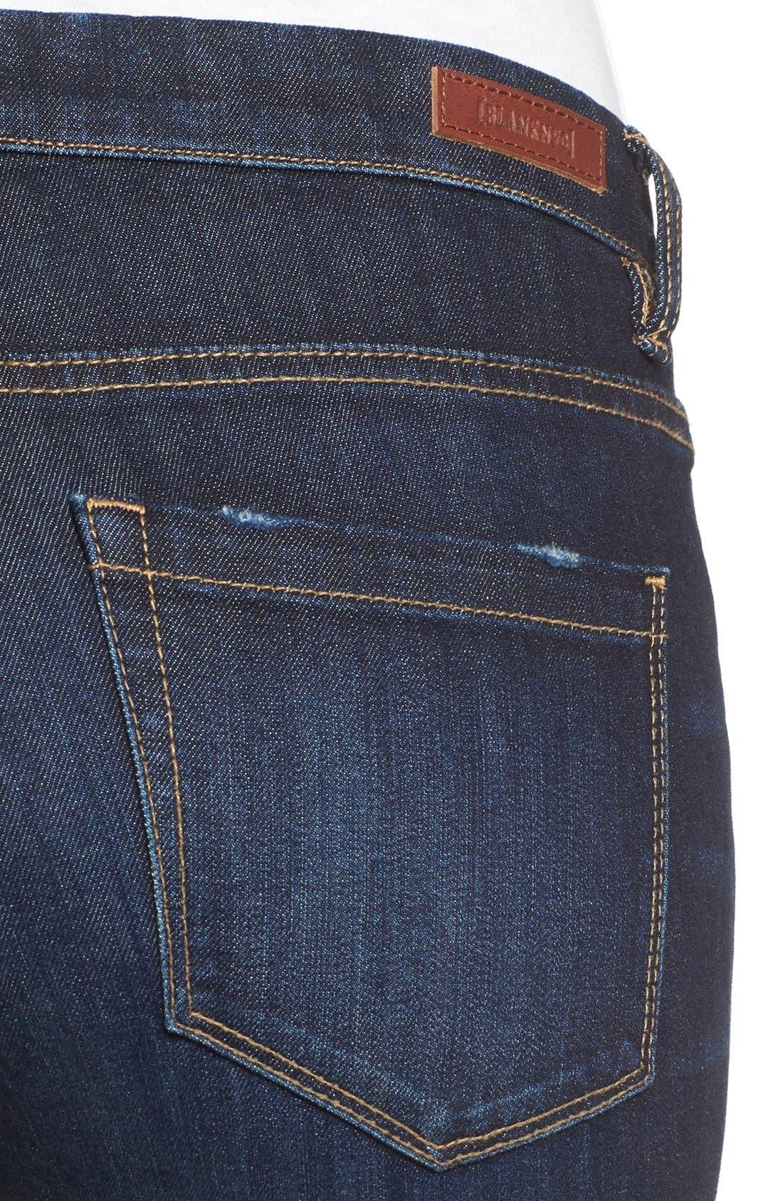 Alternate Image 4  - BLANKNYC Distressed Skinny Jeans (Fully Loaded)