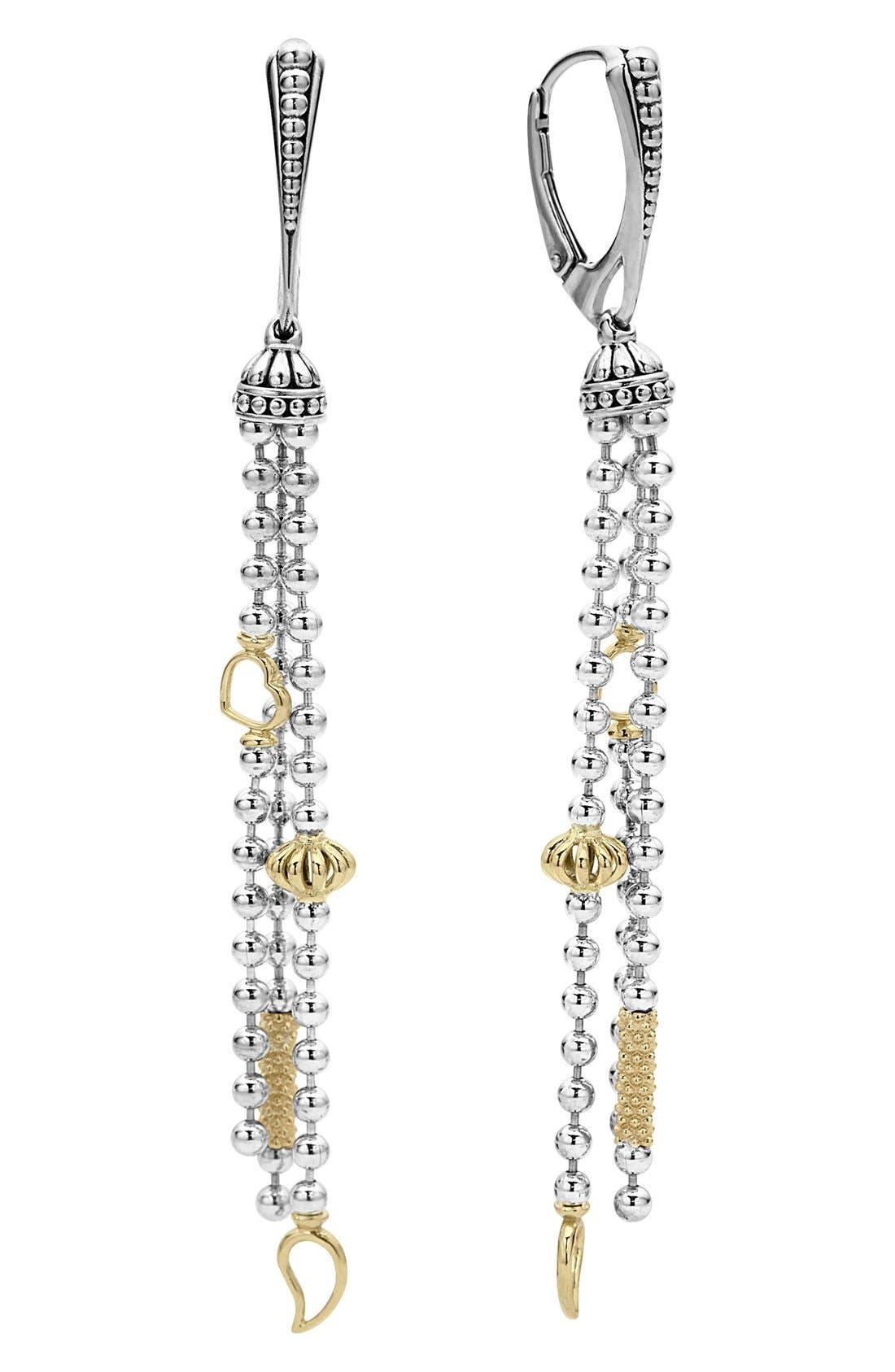 Main Image - LAGOS 'Caviar Icon' Linear Drop Earrings