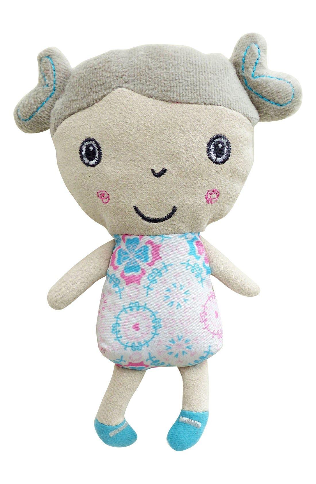 Rosie & Mae Rocking Horse & Stuffed Animal,                             Alternate thumbnail 3, color,                             Pink