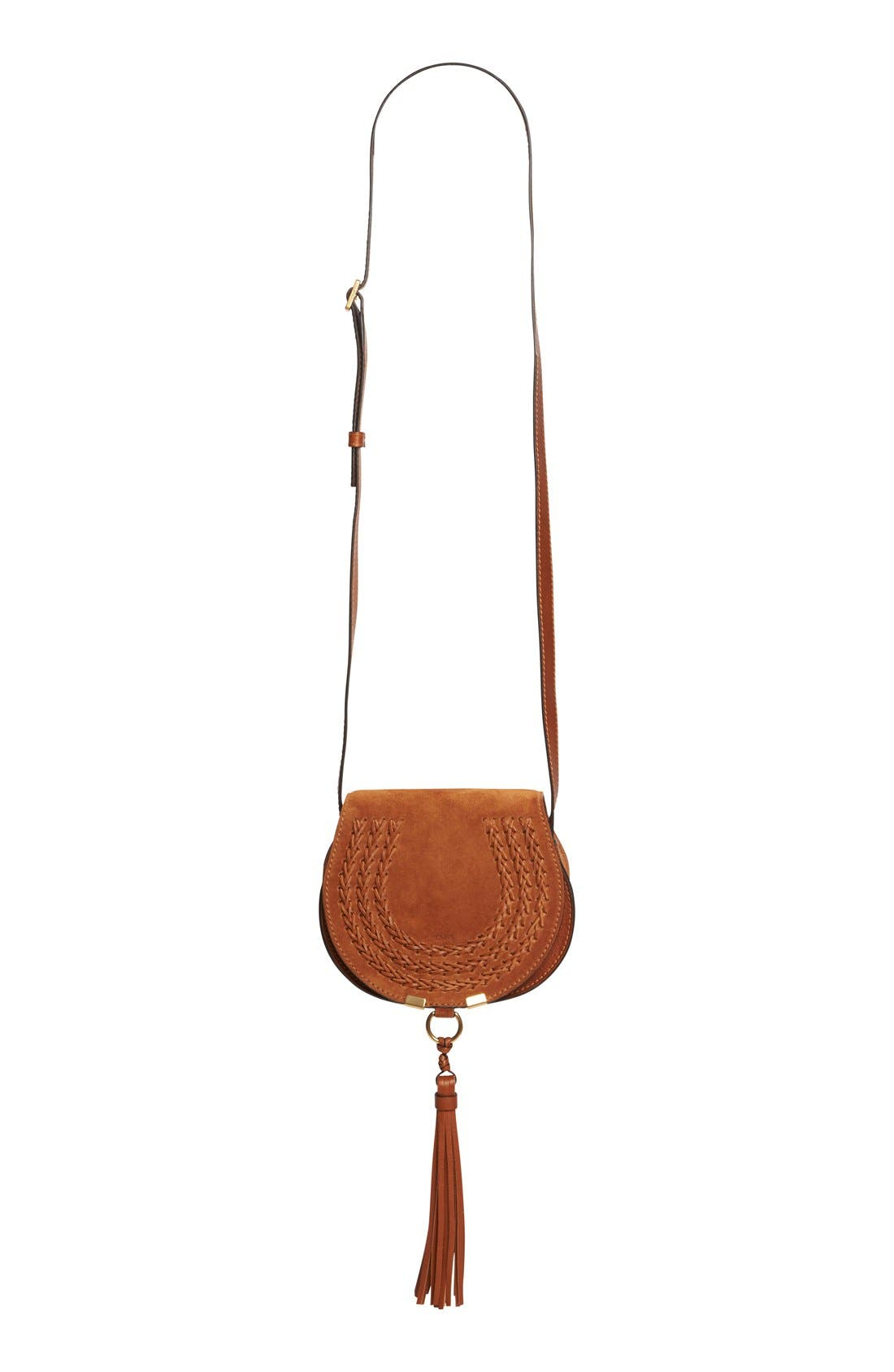 Chloé 'Mini Marcie' Suede Saddle Bag