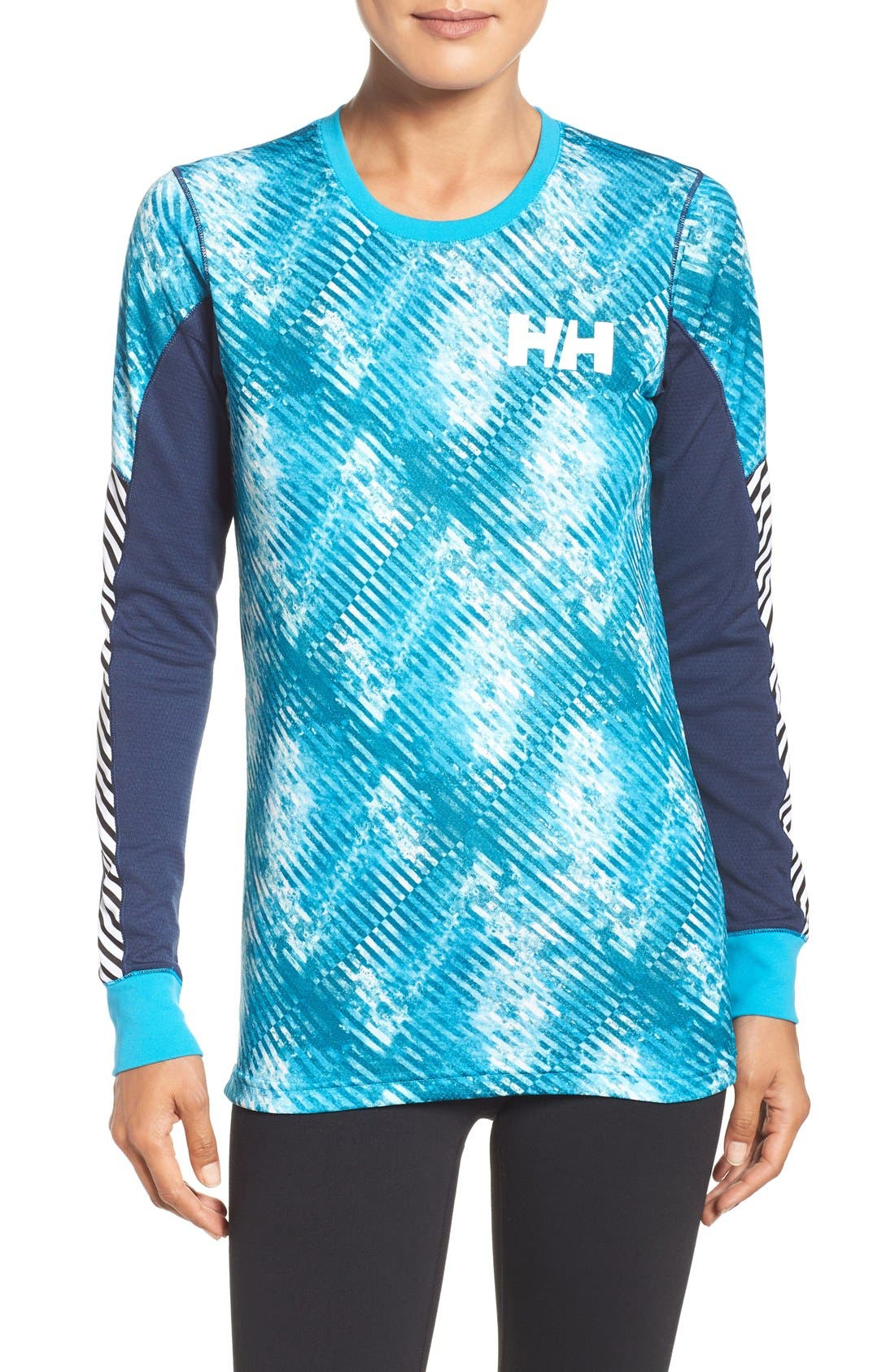 Active Flow Graphic Top,                         Main,                         color, Winter Aqua