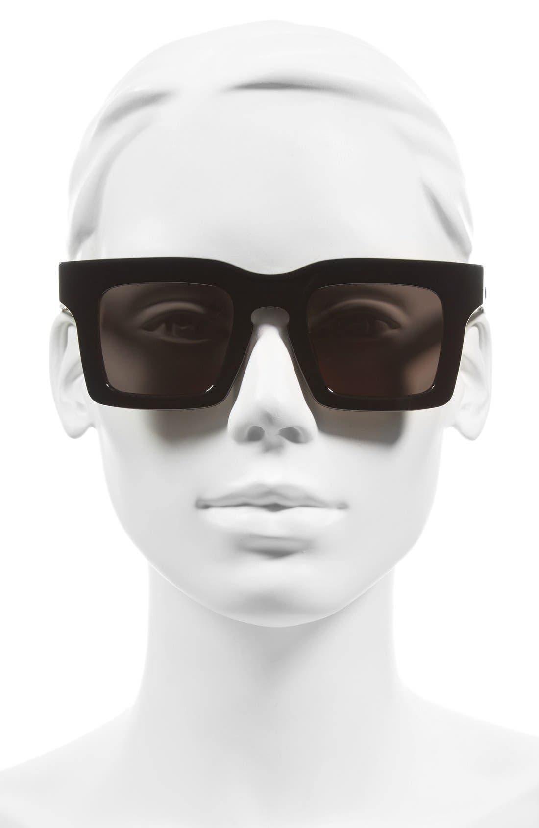 Ventricle 50mm Sunglasses,                             Alternate thumbnail 2, color,                             Gloss Black/ Tortoise