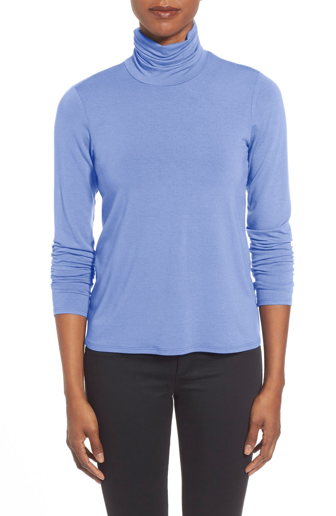 Scrunch Neck Top,                         Main,                         color, Periwinkle