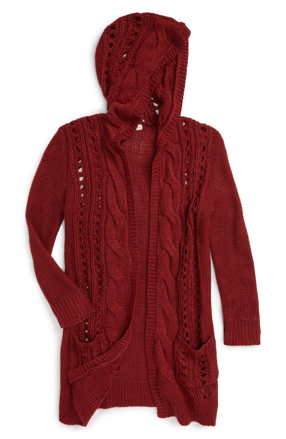 Alternate Image 1 Selected - Tucker + Tate Hooded Cardigan (Big Girls)