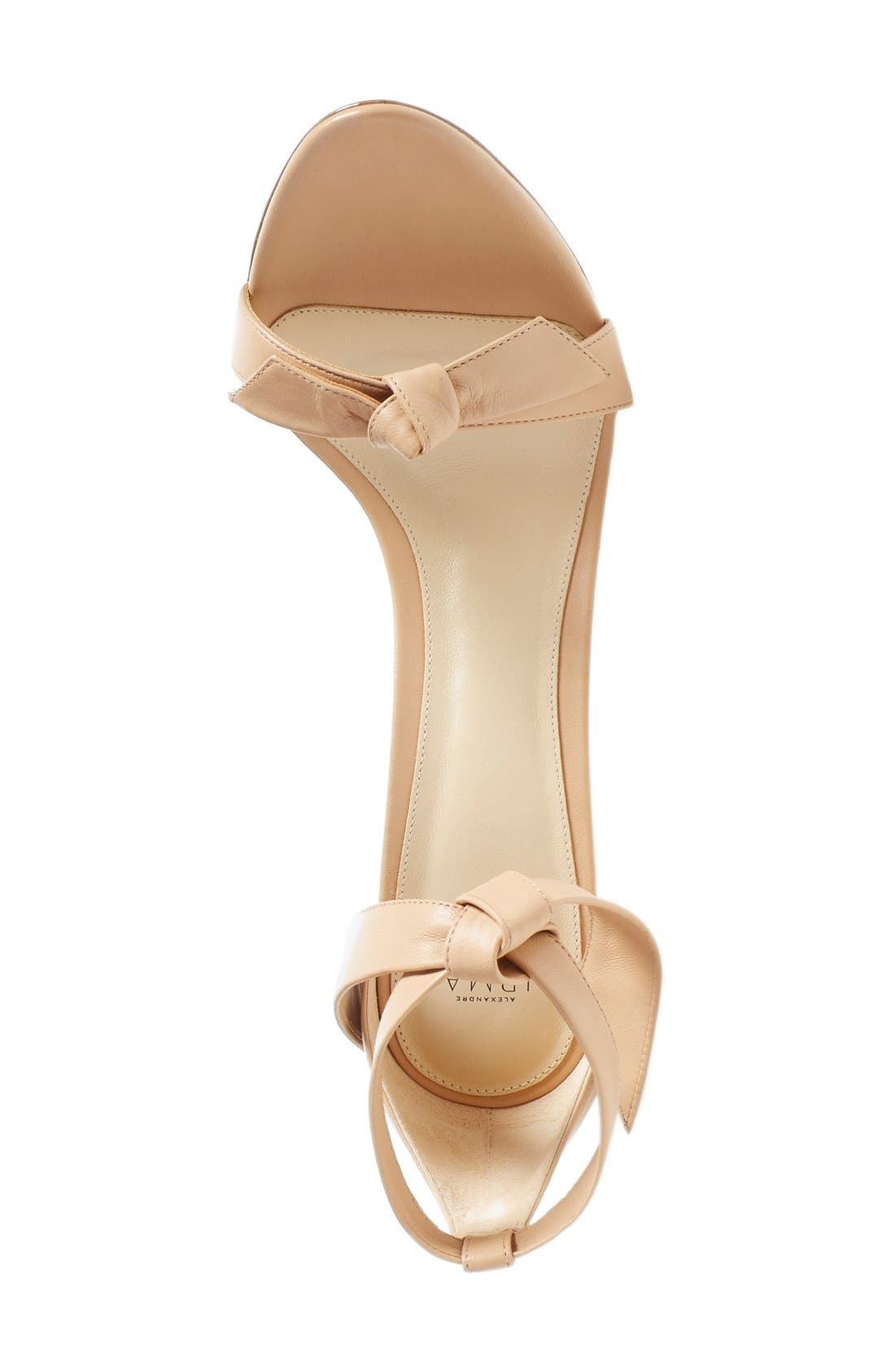 'Clarita' Ankle Tie Sandal,                             Alternate thumbnail 3, color,                             Nude Soft Leather