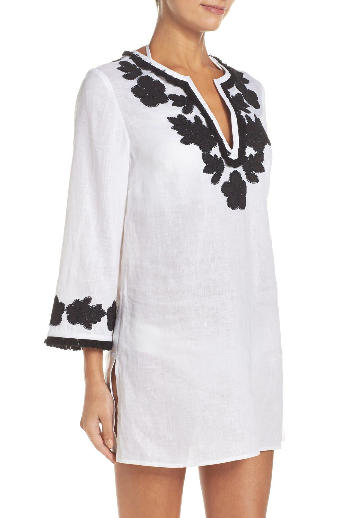 Alternate Image 3  - Tory Burch Appliqué Cover-Up Tunic