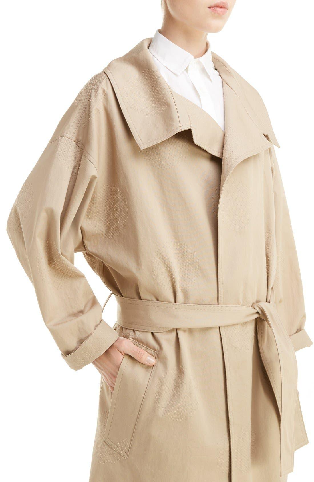 U-Gown Coat,                             Alternate thumbnail 5, color,                             Beige