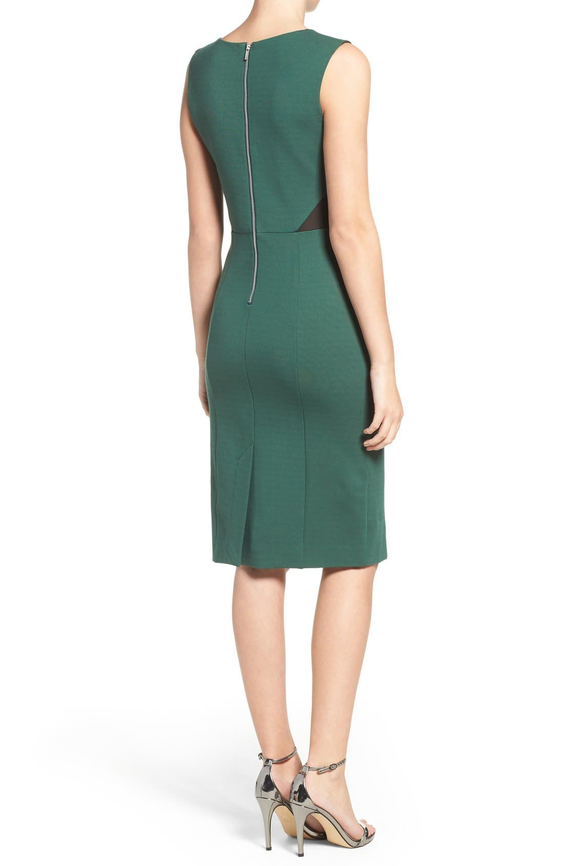 Lulu Body-Con Dress,                             Alternate thumbnail 2, color,                             Pine Forest Green