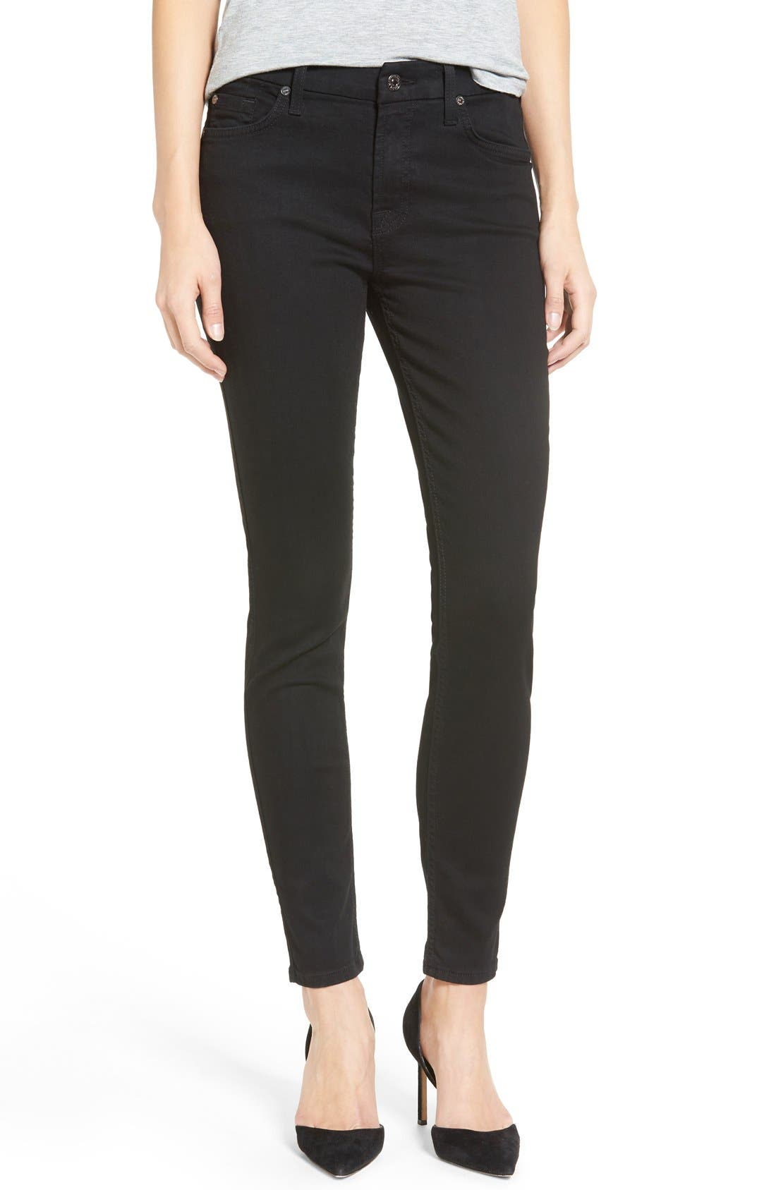'b(air)' Ankle Skinny Jeans,                             Main thumbnail 1, color,                             Black