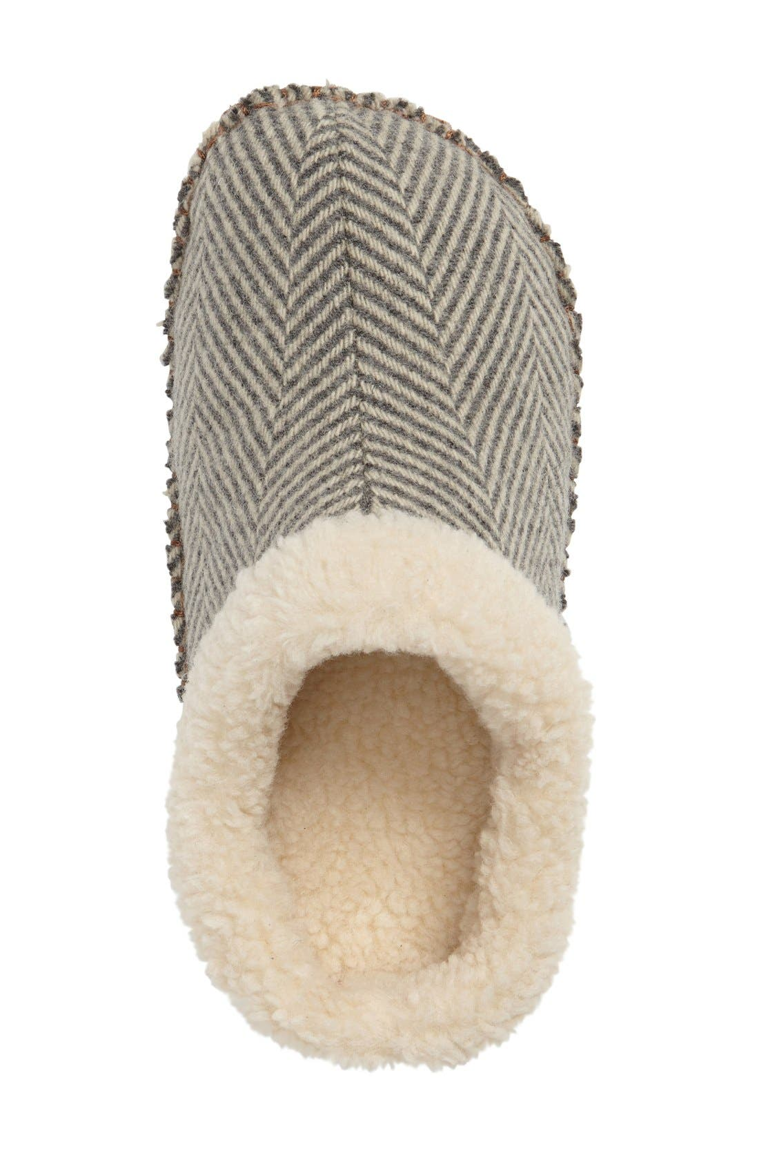 Lodge Slipper,                             Alternate thumbnail 3, color,                             Herringbone Wool