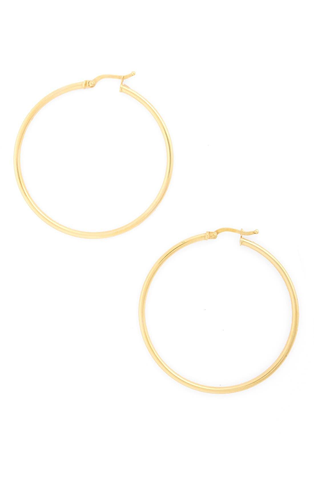 Alternate Image 1 Selected - Bony Levy 14k Gold Hoop Earrings (Nordstrom Exclusive)