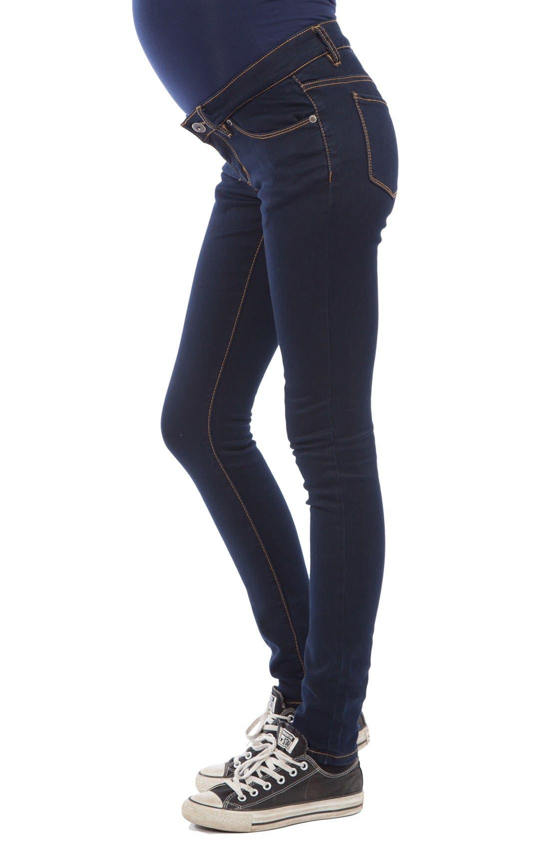 Alternate Image 3  - Modern Eternity Skinny Maternity Jeans