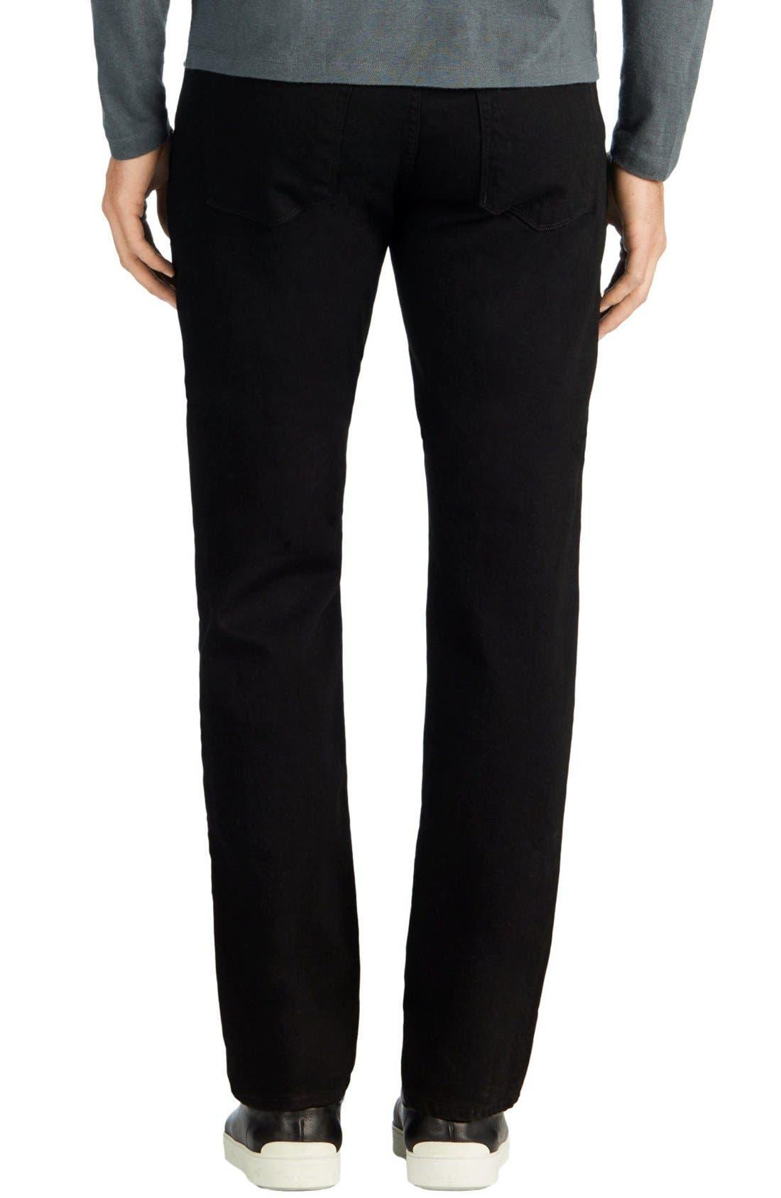 Alternate Image 2  - J Brand Kane Slim Straight Leg Jeans (Trivor Black)