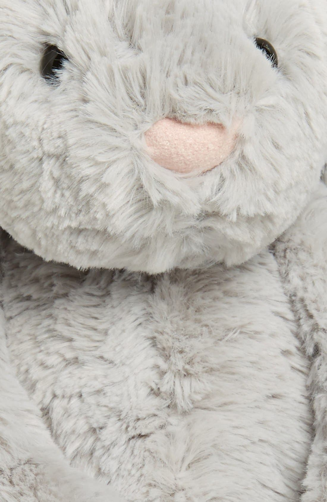 'Bashful Bunny' Stuffed Animal,                             Alternate thumbnail 3, color,                             Grey