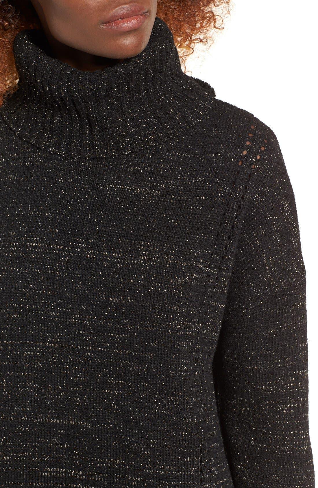 Alternate Image 5  - MOON RIVER Turtleneck Sweater Dress